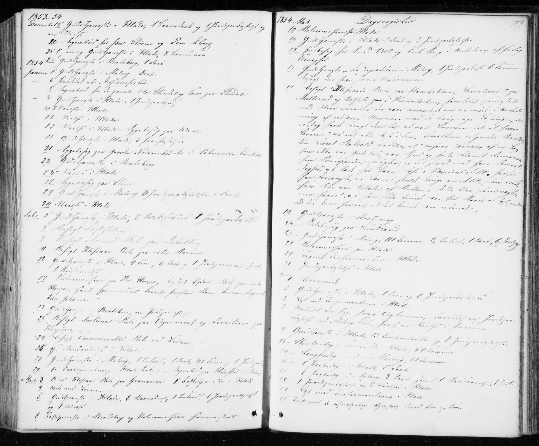 SAT, Ministerialprotokoller, klokkerbøker og fødselsregistre - Sør-Trøndelag, 606/L0291: Ministerialbok nr. 606A06, 1848-1856, s. 373