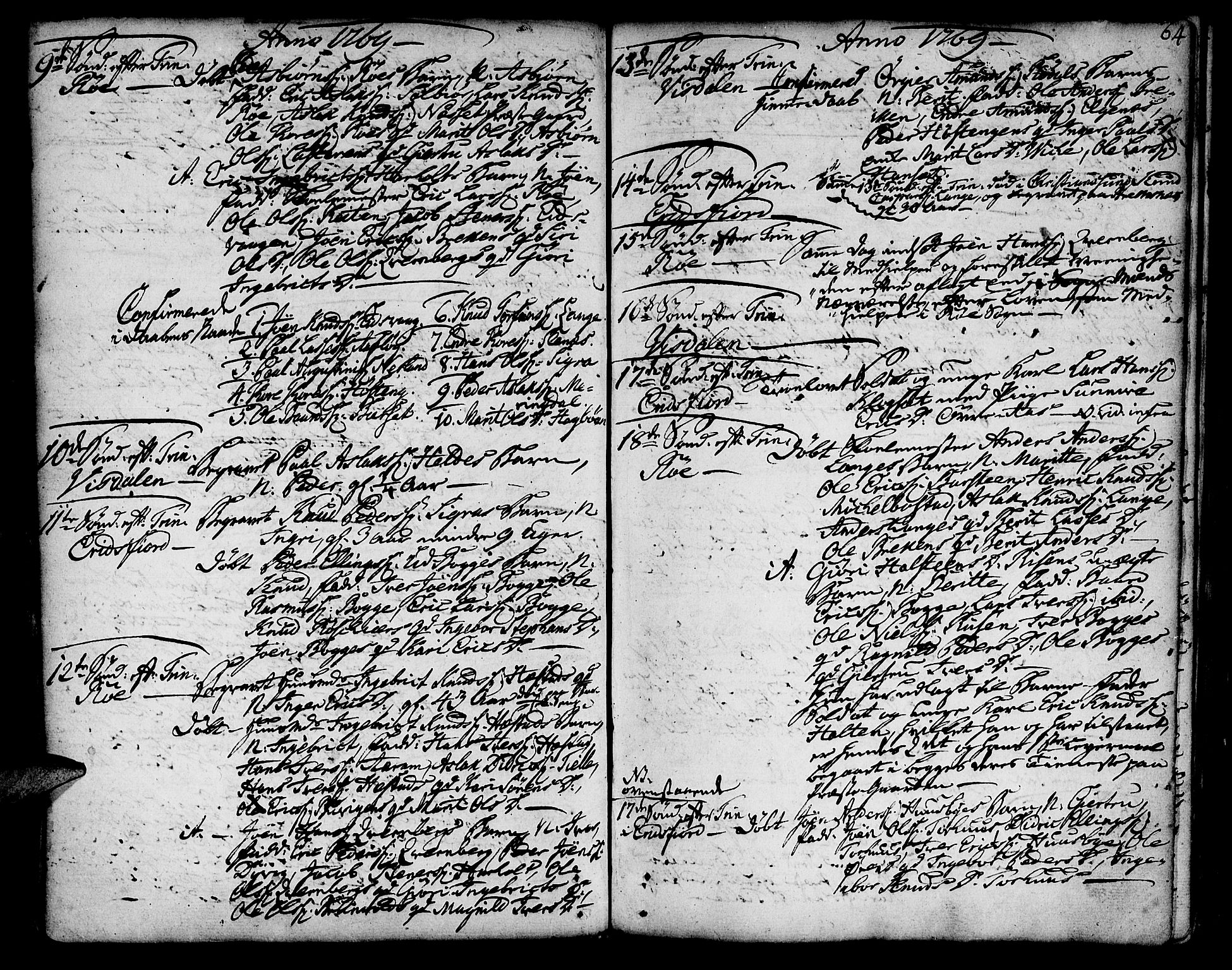 SAT, Ministerialprotokoller, klokkerbøker og fødselsregistre - Møre og Romsdal, 551/L0621: Ministerialbok nr. 551A01, 1757-1803, s. 64