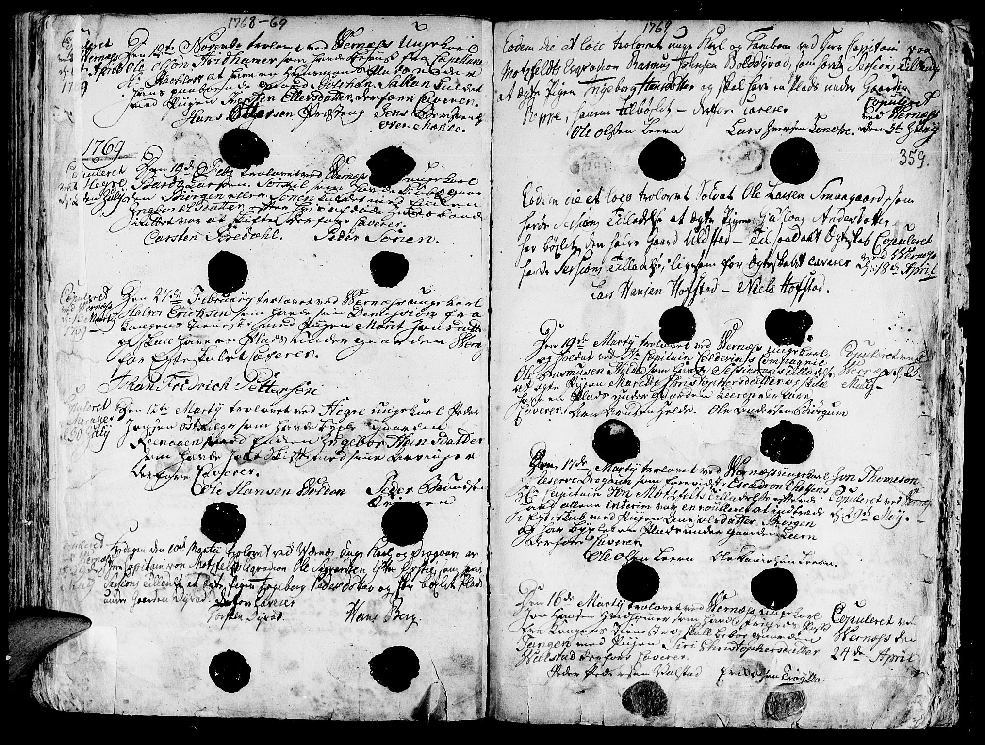 SAT, Ministerialprotokoller, klokkerbøker og fødselsregistre - Nord-Trøndelag, 709/L0057: Ministerialbok nr. 709A05, 1755-1780, s. 359