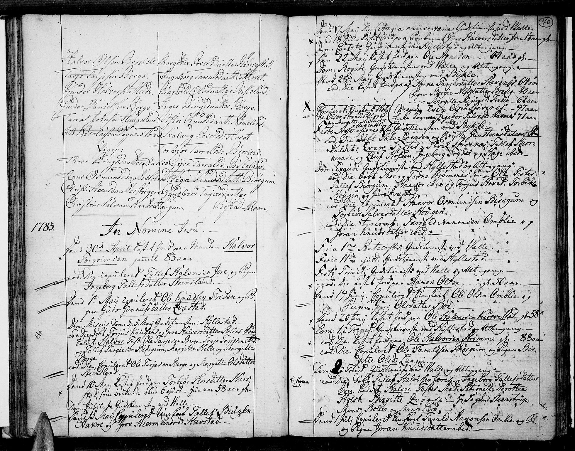 SAK, Valle sokneprestkontor, F/Fa/Fac/L0003: Ministerialbok nr. A 3, 1776-1790, s. 40