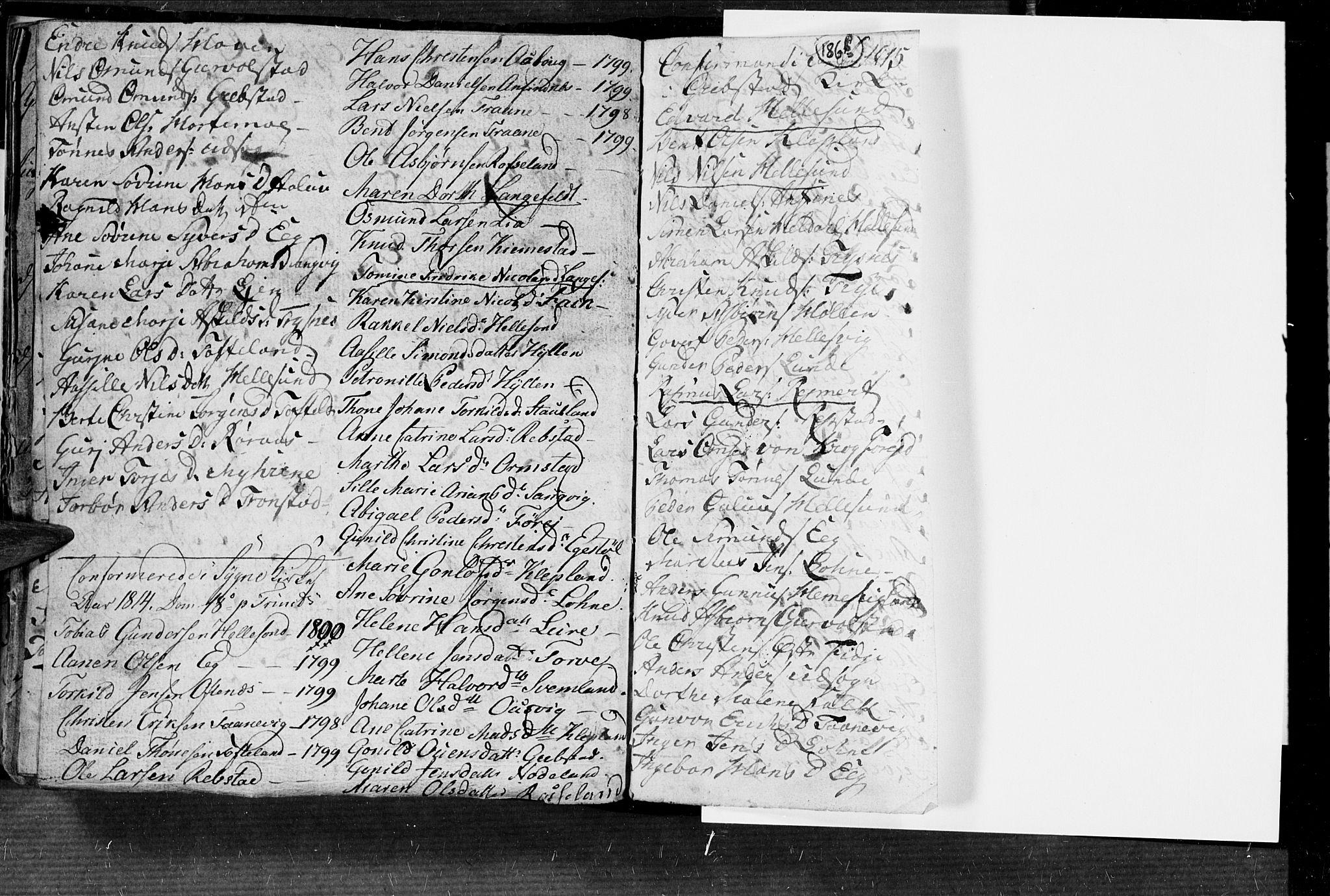 SAK, Søgne sokneprestkontor, F/Fa/Fab/L0004: Ministerialbok nr. A 4, 1770-1822, s. 186-187