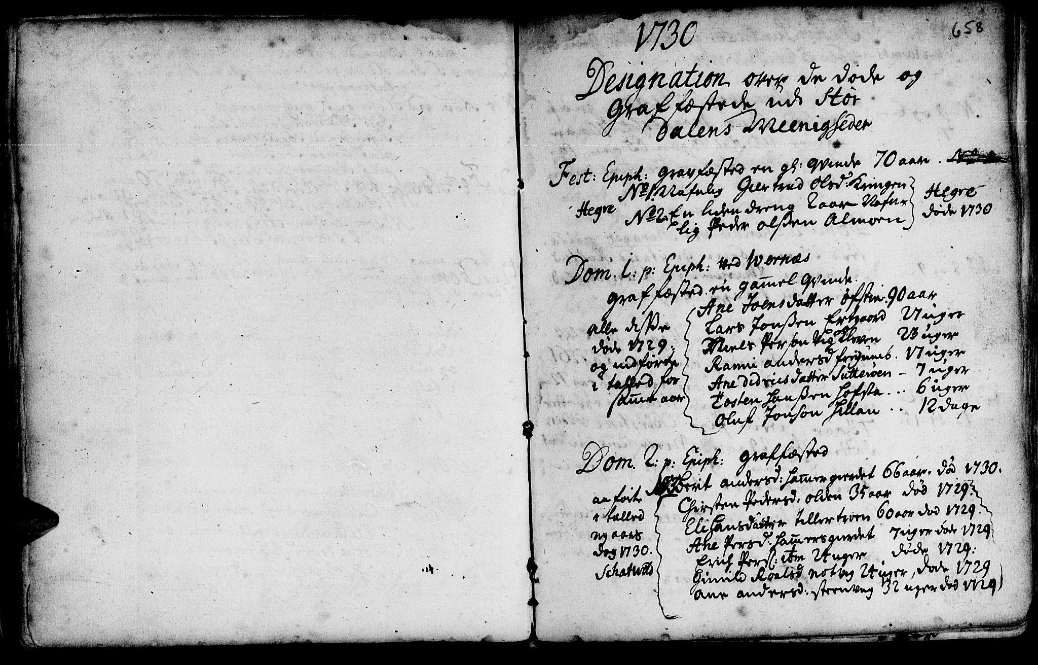 SAT, Ministerialprotokoller, klokkerbøker og fødselsregistre - Nord-Trøndelag, 709/L0055: Ministerialbok nr. 709A03, 1730-1739, s. 657-658