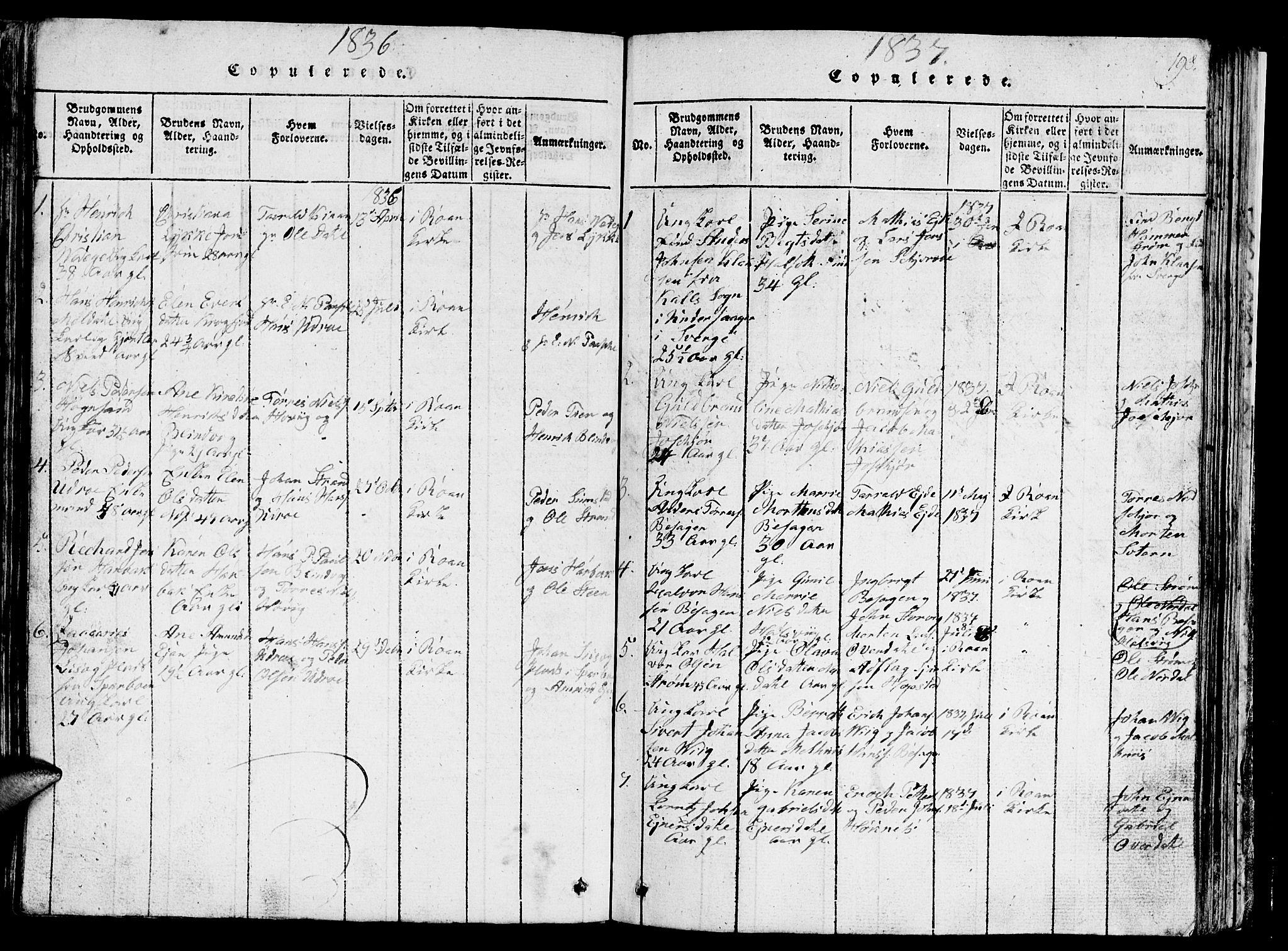 SAT, Ministerialprotokoller, klokkerbøker og fødselsregistre - Sør-Trøndelag, 657/L0714: Klokkerbok nr. 657C01, 1818-1868, s. 198