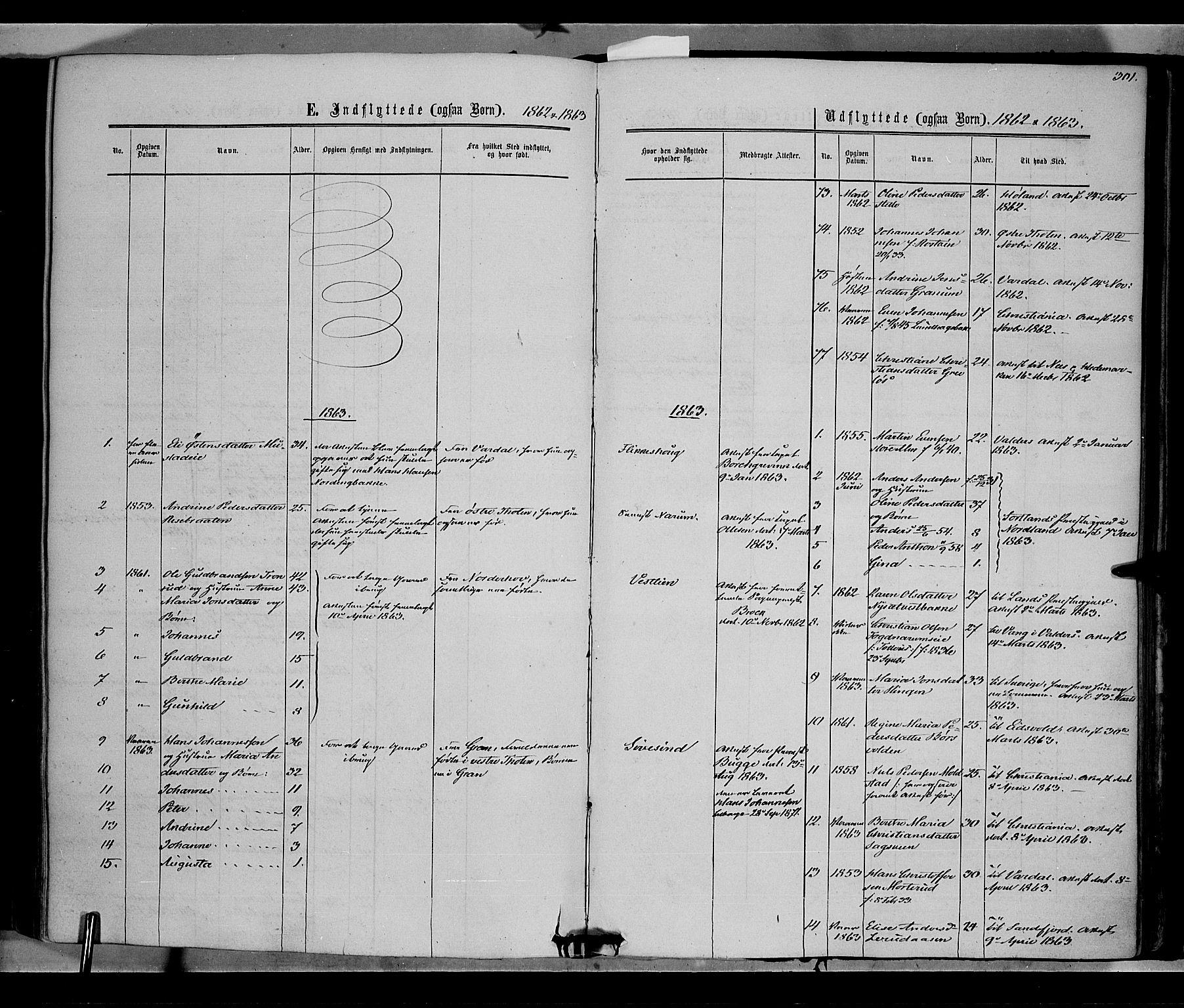 SAH, Vestre Toten prestekontor, Ministerialbok nr. 7, 1862-1869, s. 301