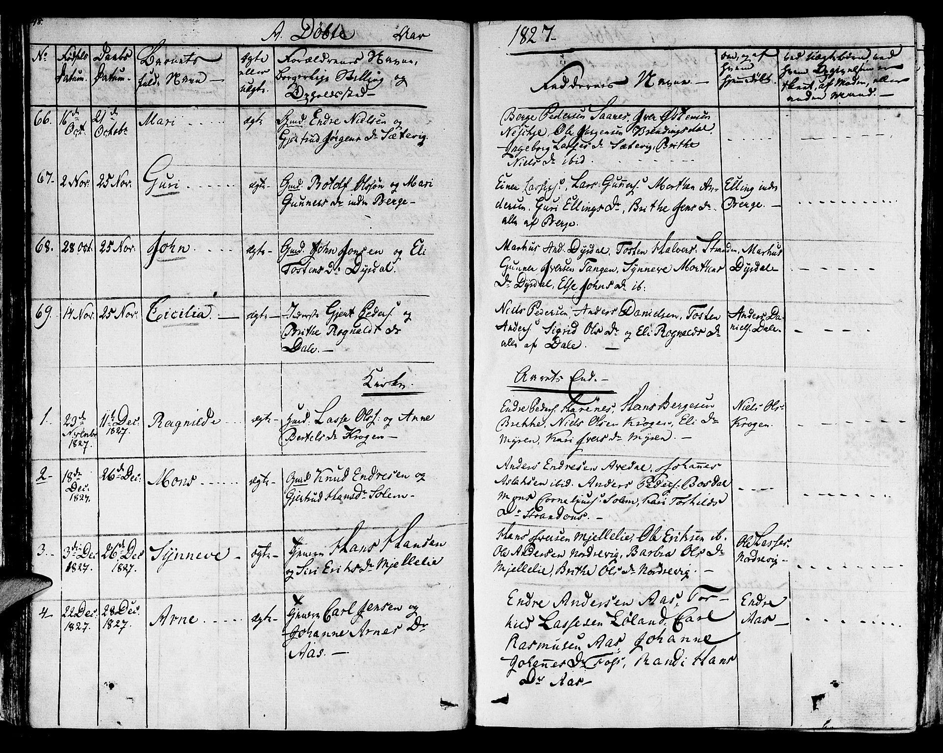 SAB, Lavik sokneprestembete, Ministerialbok nr. A 2I, 1821-1842, s. 48
