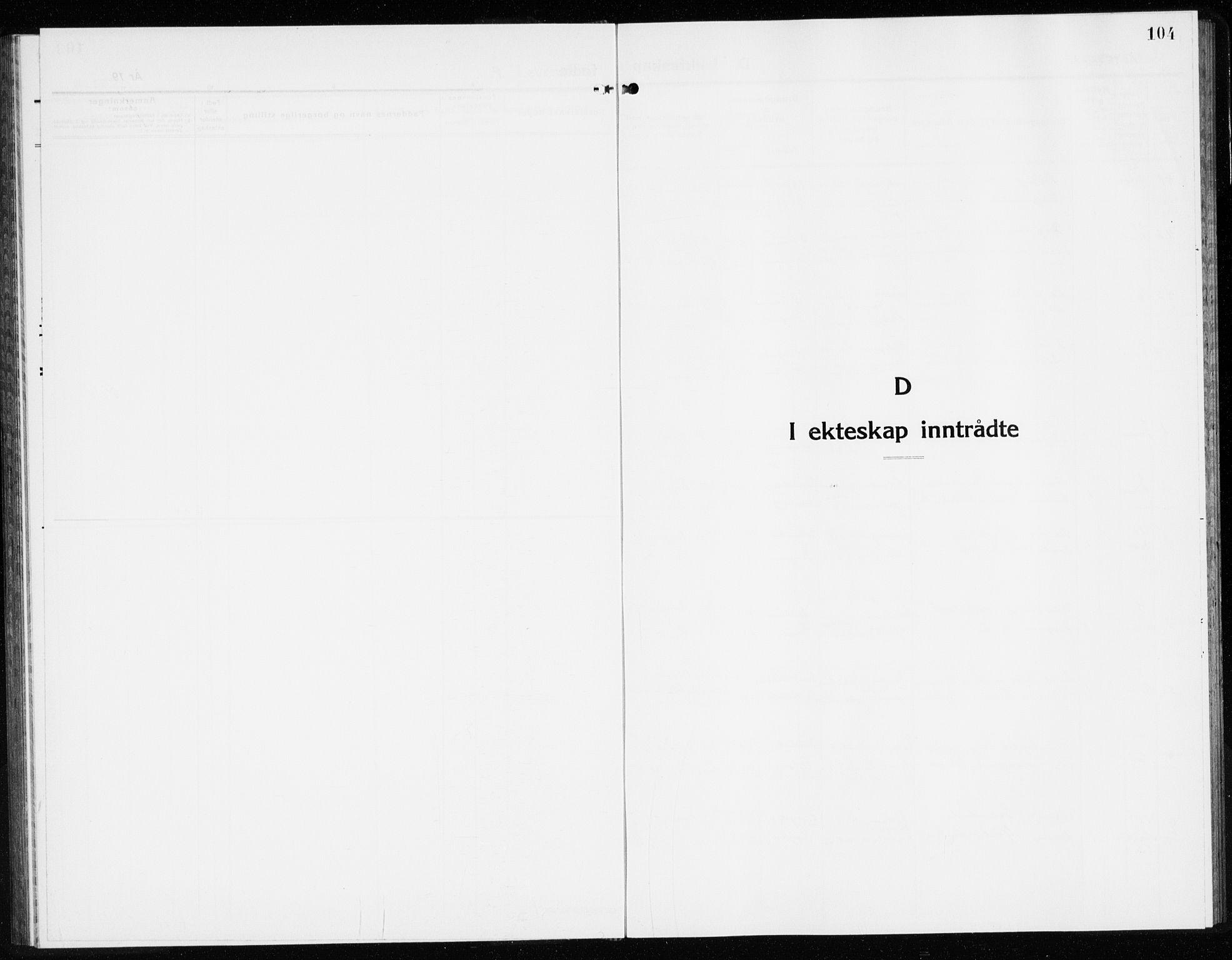 SAKO, Lier kirkebøker, G/Gb/L0005: Klokkerbok nr. II 5, 1932-1942, s. 104