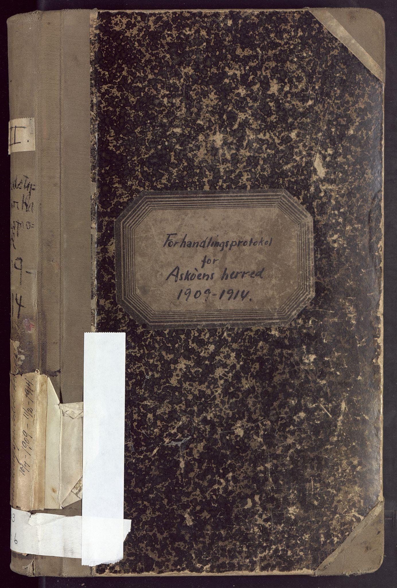BBA, Laksevåg kommune. Formannskapet, Ab/L0006: Forhandlingsprotokoll, 1909-1914