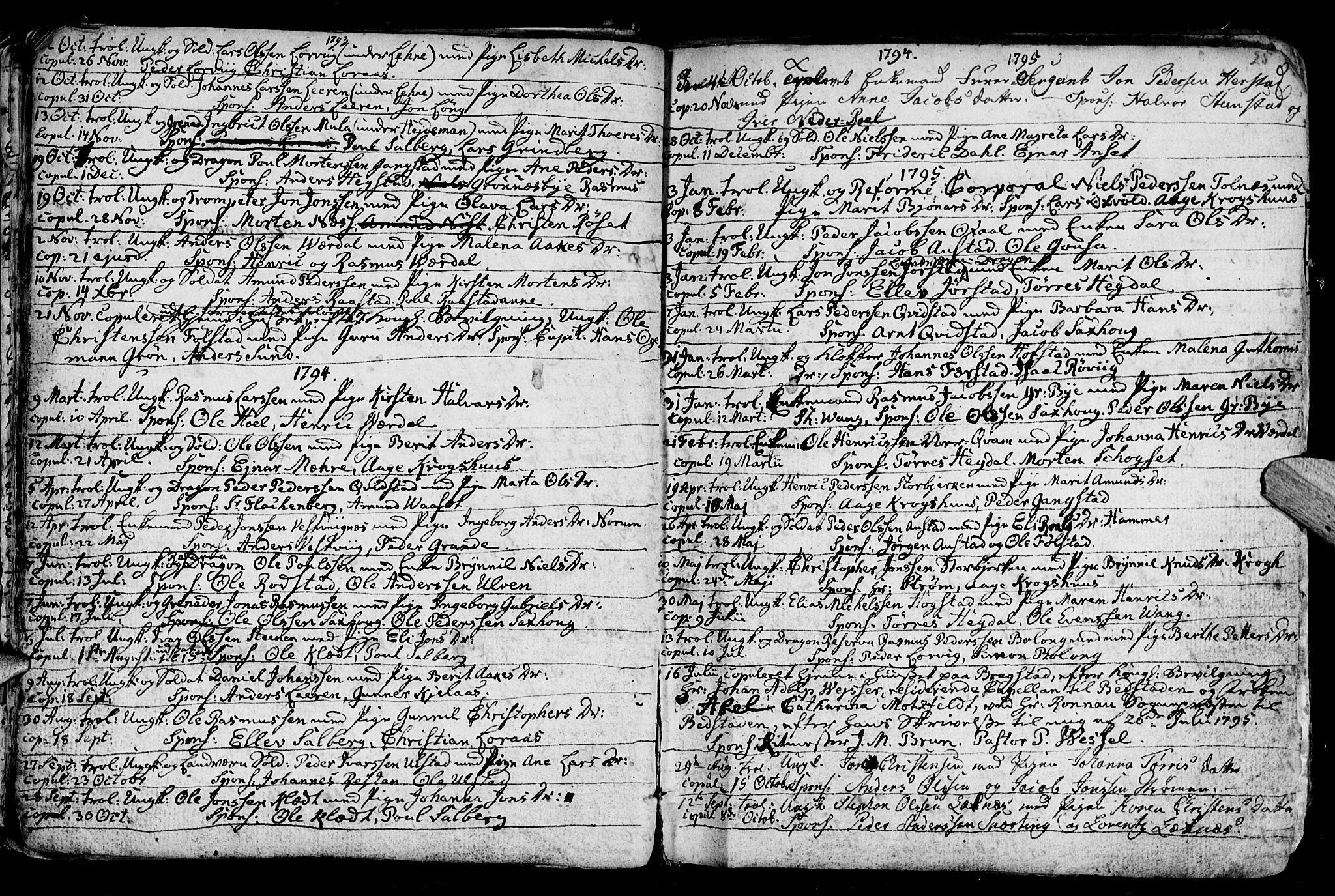 SAT, Ministerialprotokoller, klokkerbøker og fødselsregistre - Nord-Trøndelag, 730/L0273: Ministerialbok nr. 730A02, 1762-1802, s. 25