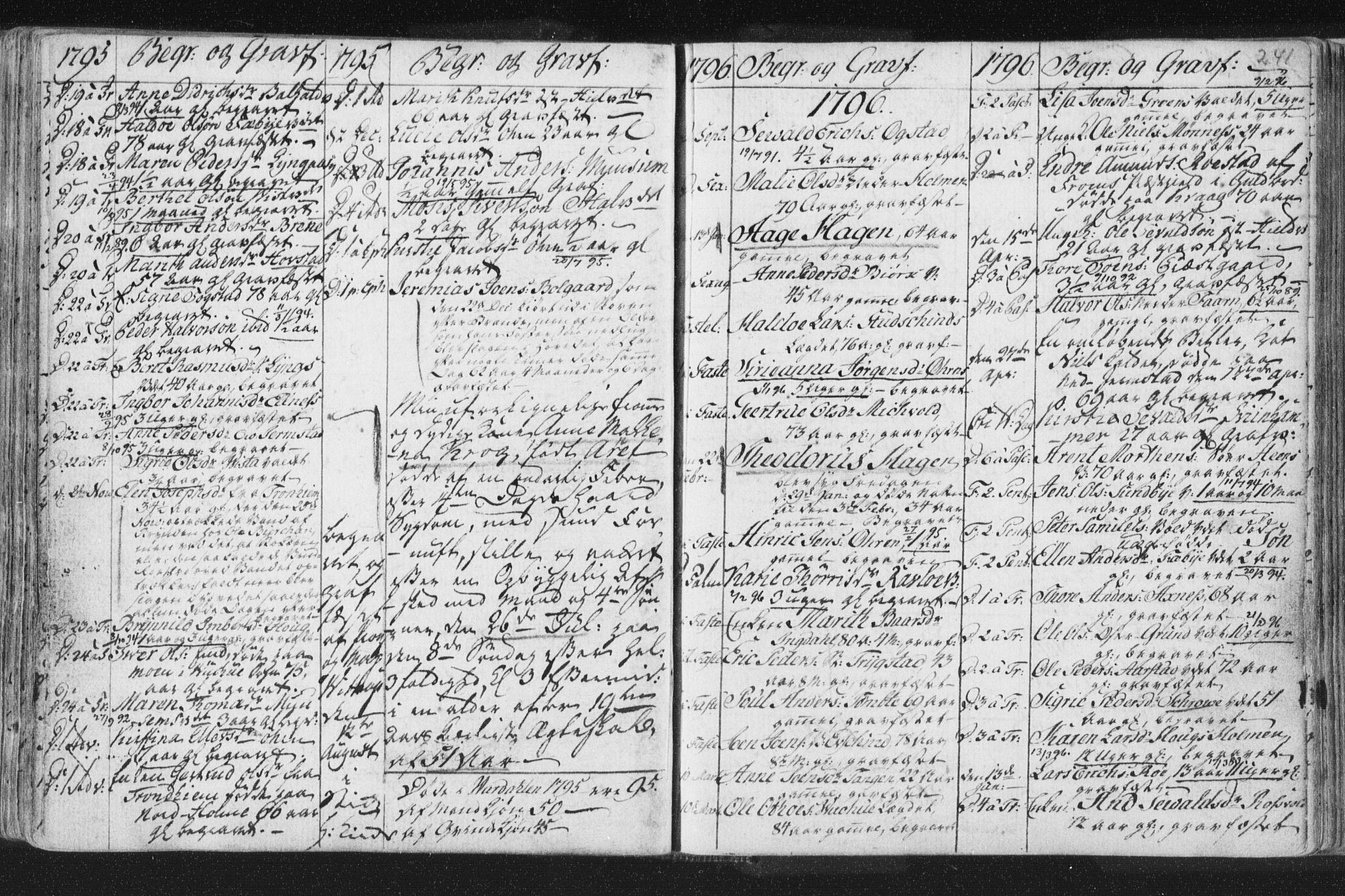 SAT, Ministerialprotokoller, klokkerbøker og fødselsregistre - Nord-Trøndelag, 723/L0232: Ministerialbok nr. 723A03, 1781-1804, s. 241