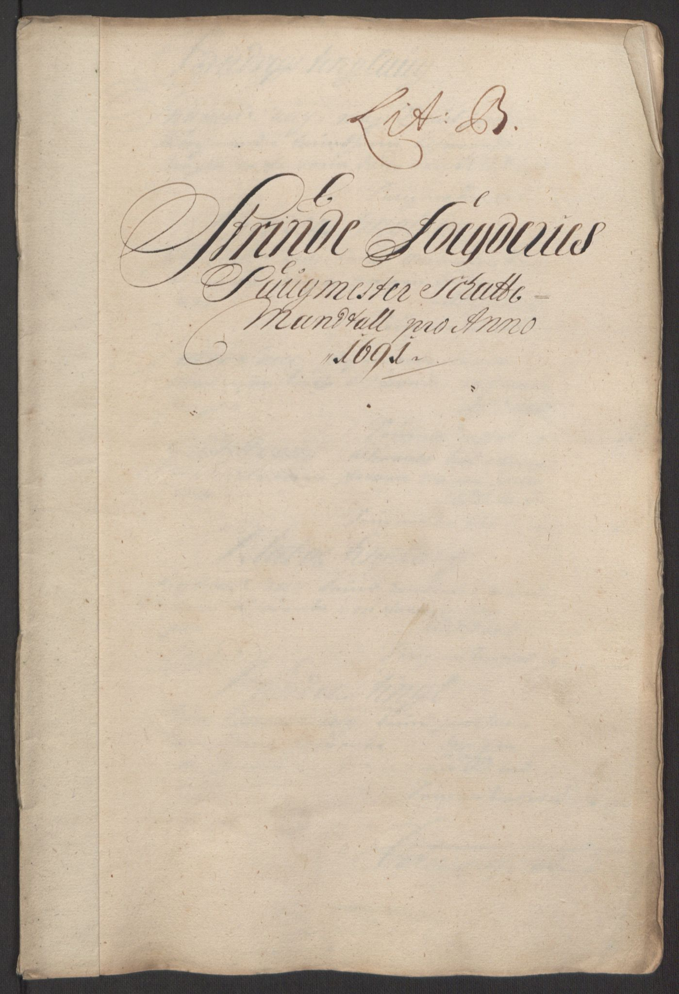 RA, Rentekammeret inntil 1814, Reviderte regnskaper, Fogderegnskap, R61/L4103: Fogderegnskap Strinda og Selbu, 1691-1692, s. 49