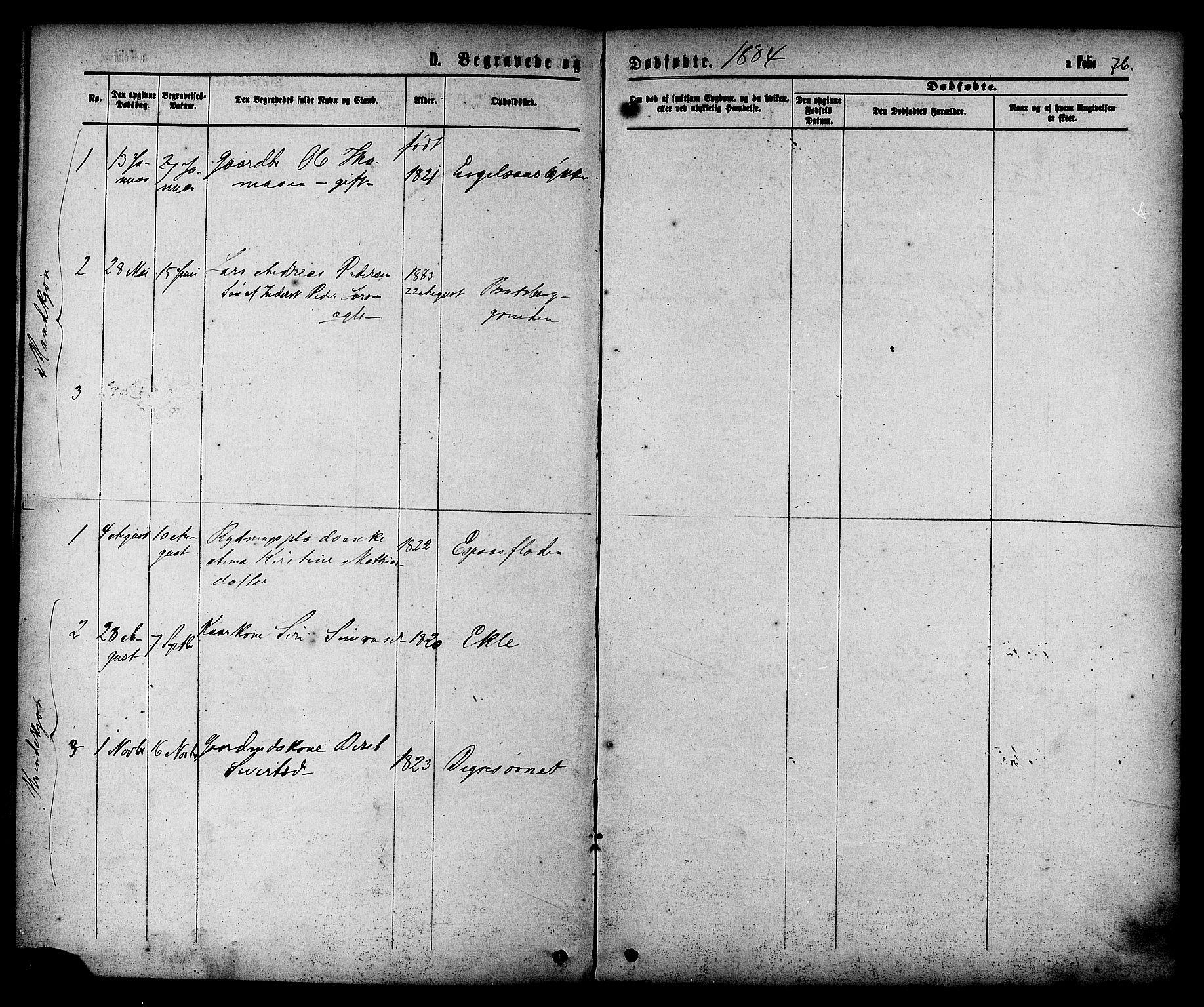 SAT, Ministerialprotokoller, klokkerbøker og fødselsregistre - Sør-Trøndelag, 608/L0334: Ministerialbok nr. 608A03, 1877-1886, s. 76