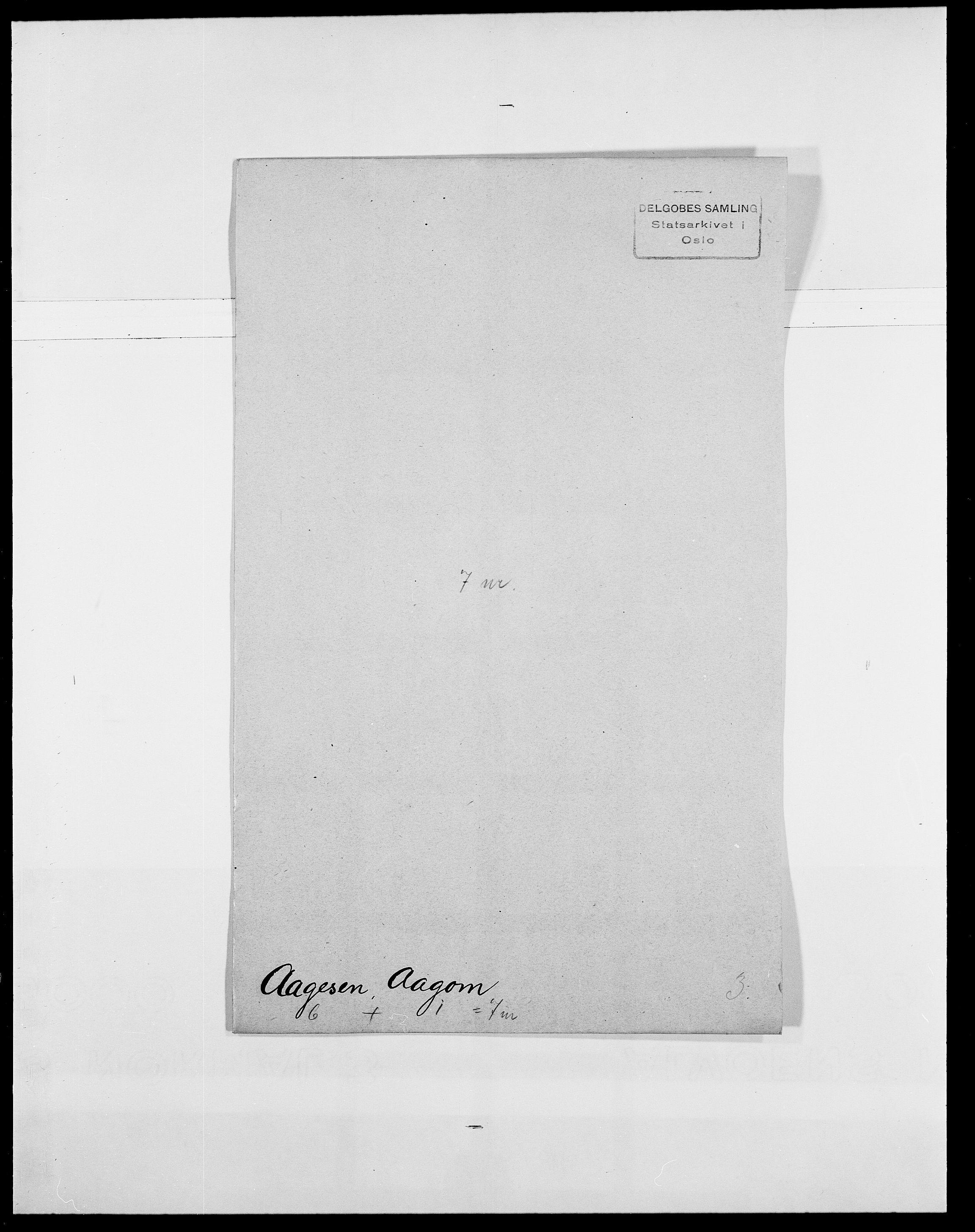 SAO, Delgobe, Charles Antoine - samling, D/Da/L0001: Aabye - Angerman, s. 24