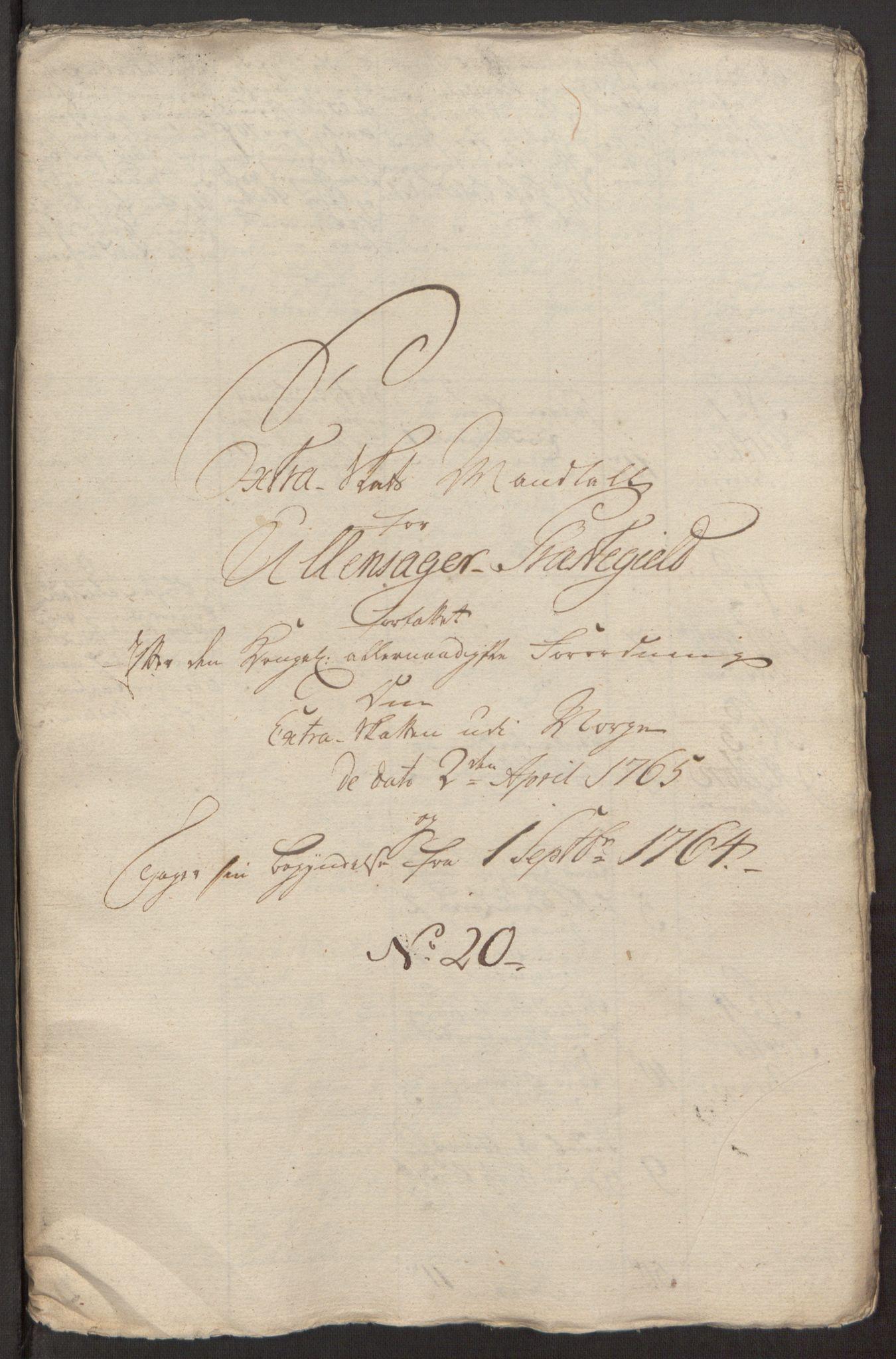 RA, Rentekammeret inntil 1814, Reviderte regnskaper, Fogderegnskap, R12/L0803: Ekstraskatten Øvre Romerike, 1763-1764, s. 432