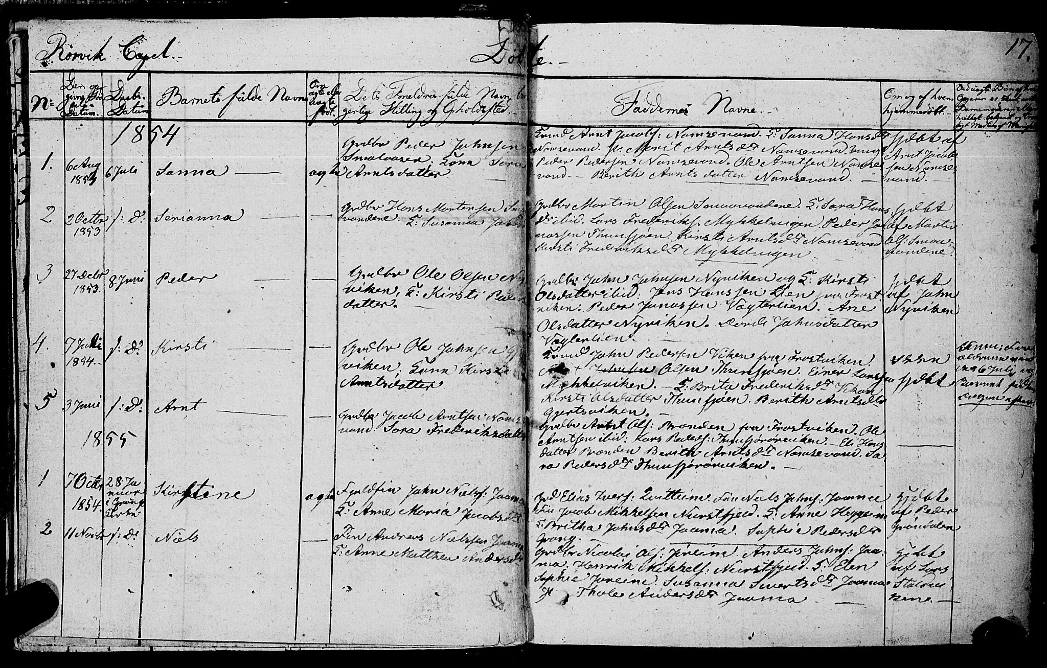 SAT, Ministerialprotokoller, klokkerbøker og fødselsregistre - Nord-Trøndelag, 762/L0538: Ministerialbok nr. 762A02 /1, 1833-1879, s. 17