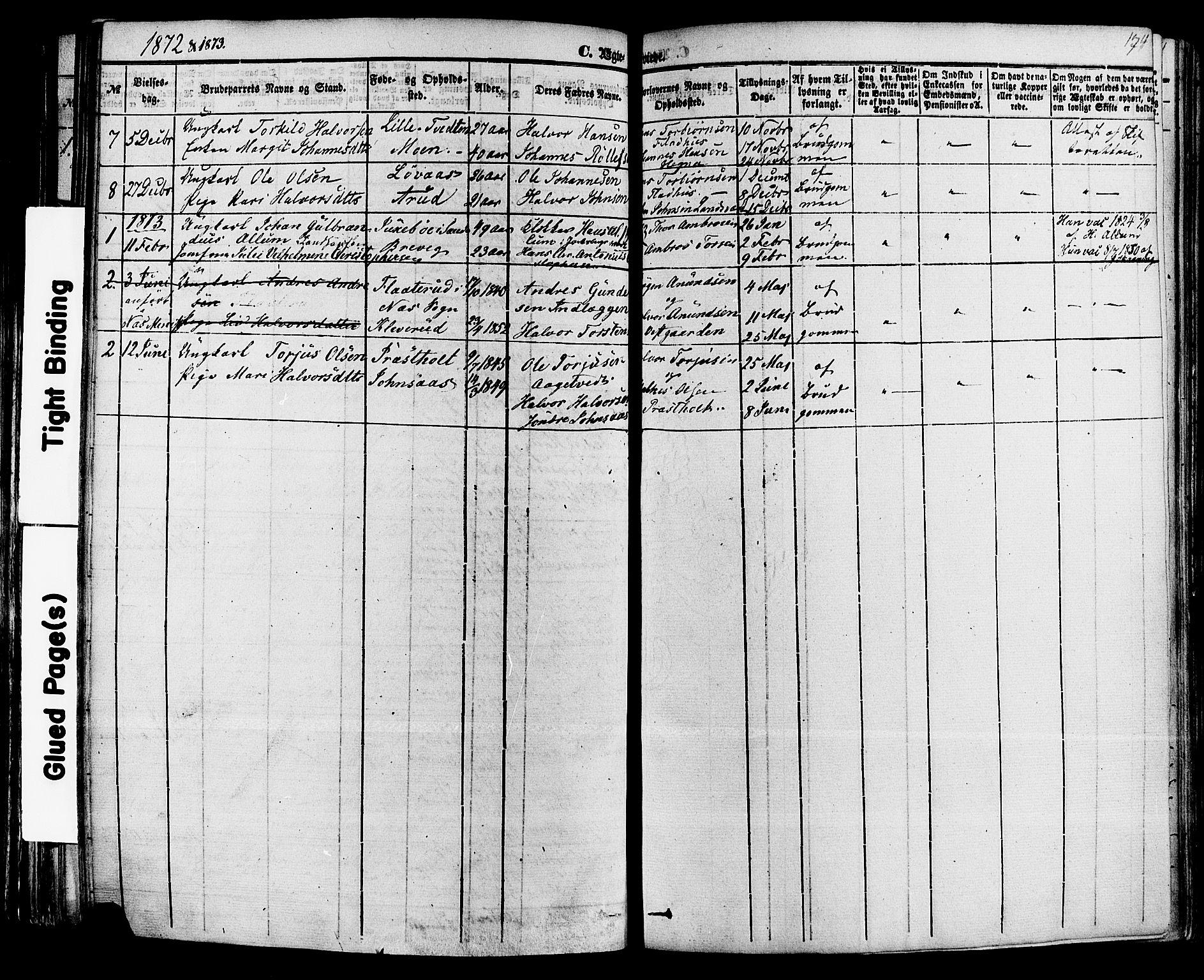 SAKO, Sauherad kirkebøker, F/Fa/L0007: Ministerialbok nr. I 7, 1851-1873, s. 174