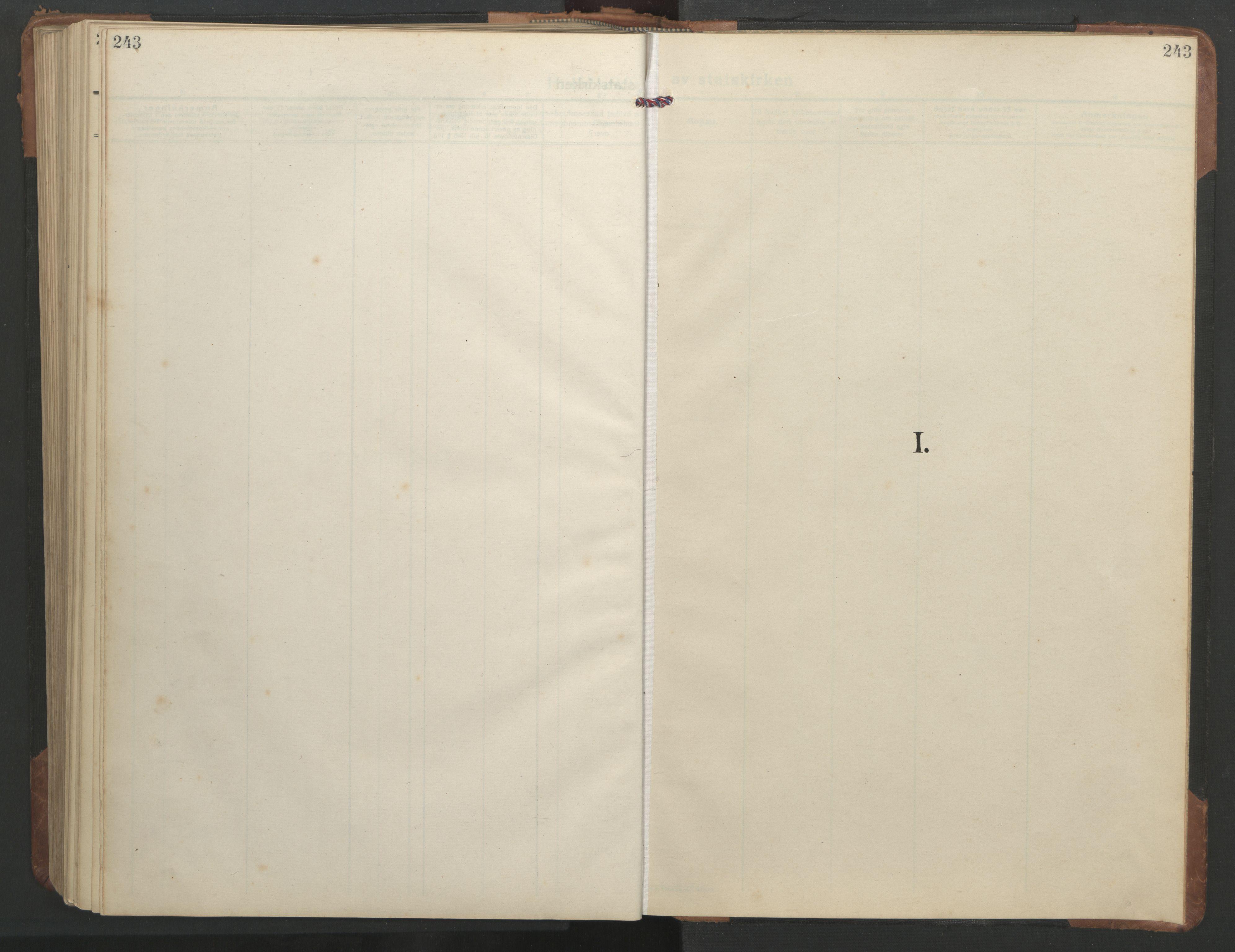 SAT, Ministerialprotokoller, klokkerbøker og fødselsregistre - Sør-Trøndelag, 638/L0569: Klokkerbok nr. 638C01, 1923-1961, s. 243
