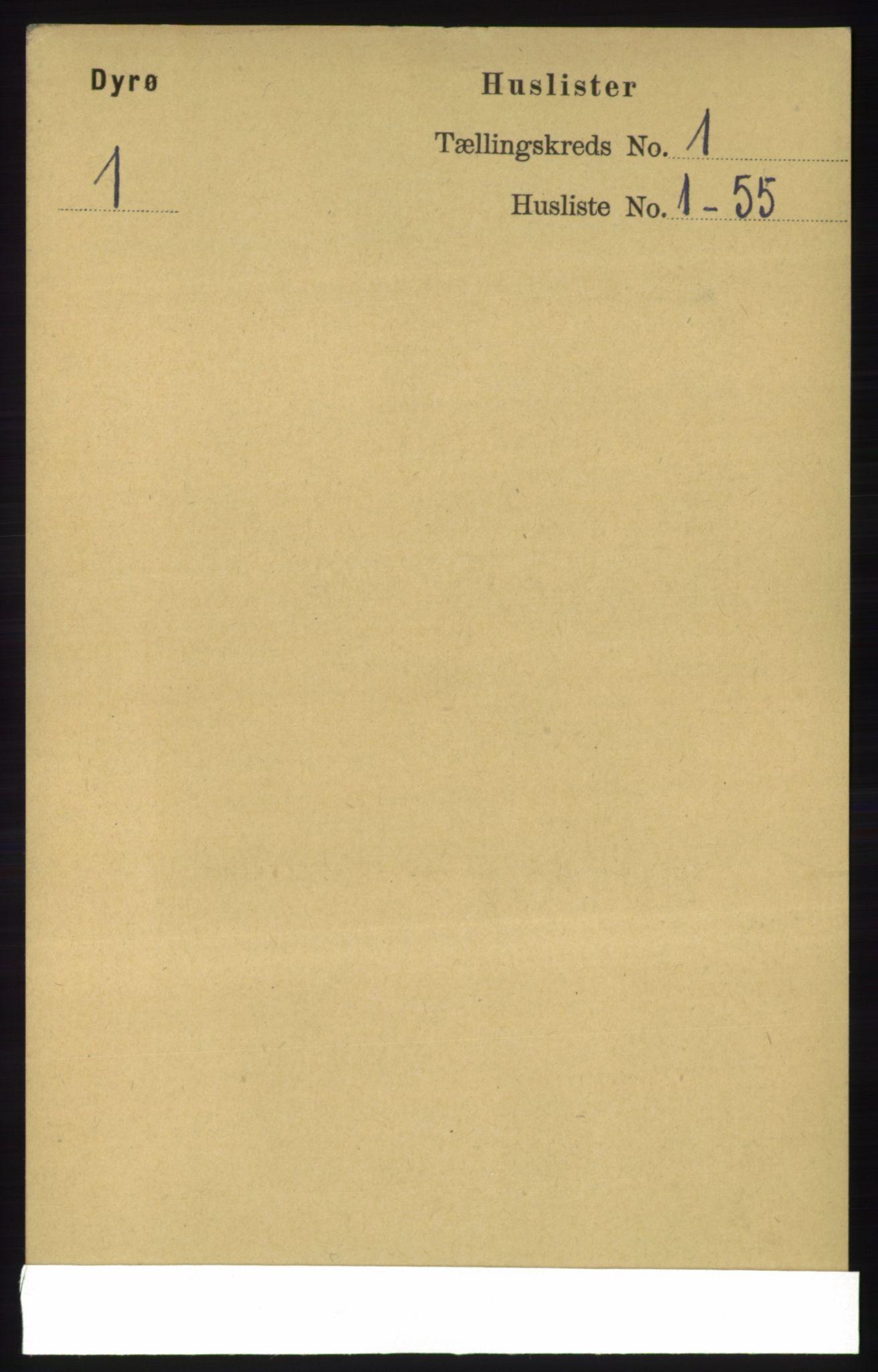 RA, Folketelling 1891 for 1926 Dyrøy herred, 1891, s. 15