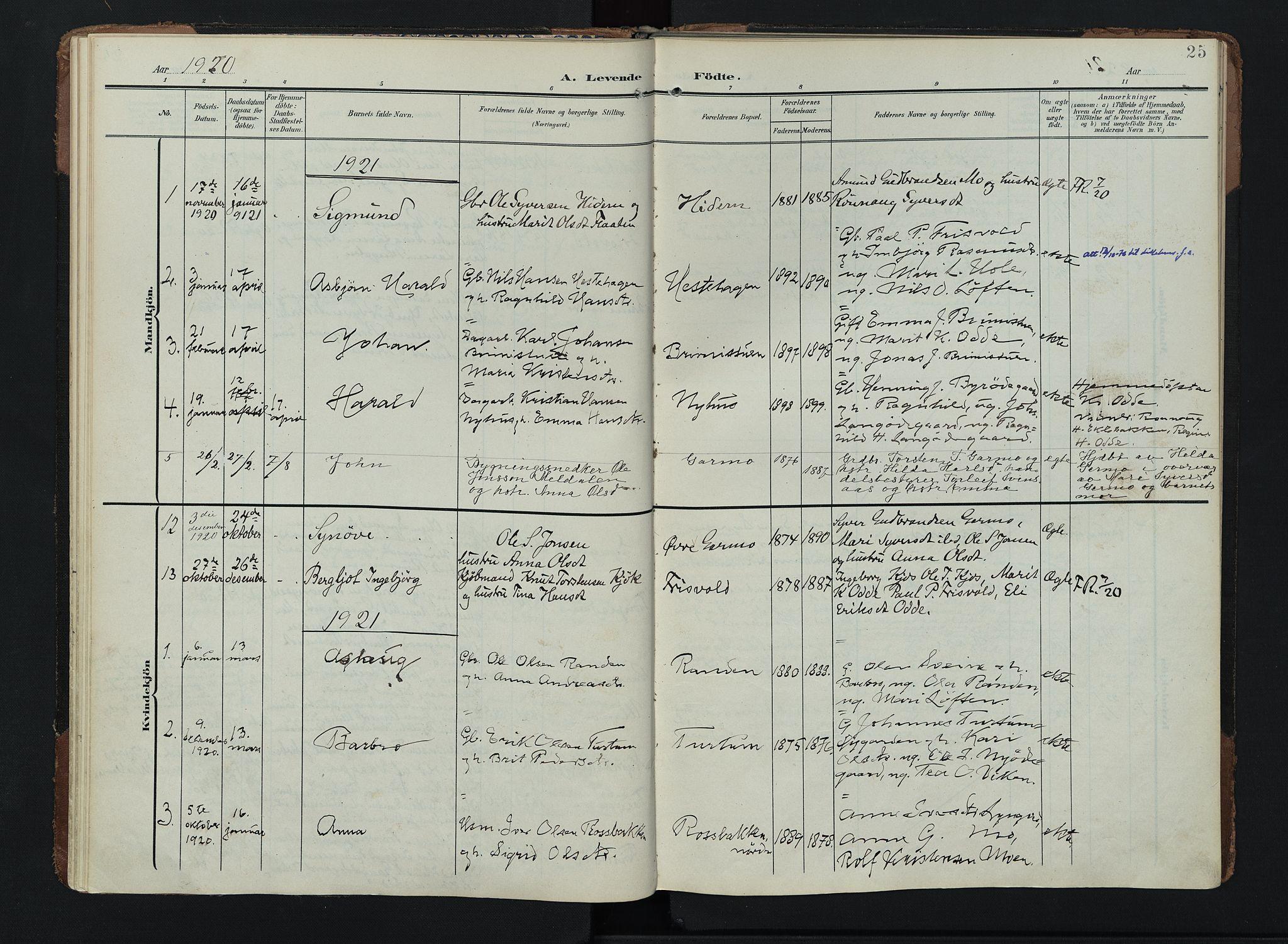 SAH, Lom prestekontor, K/L0011: Ministerialbok nr. 11, 1904-1928, s. 25
