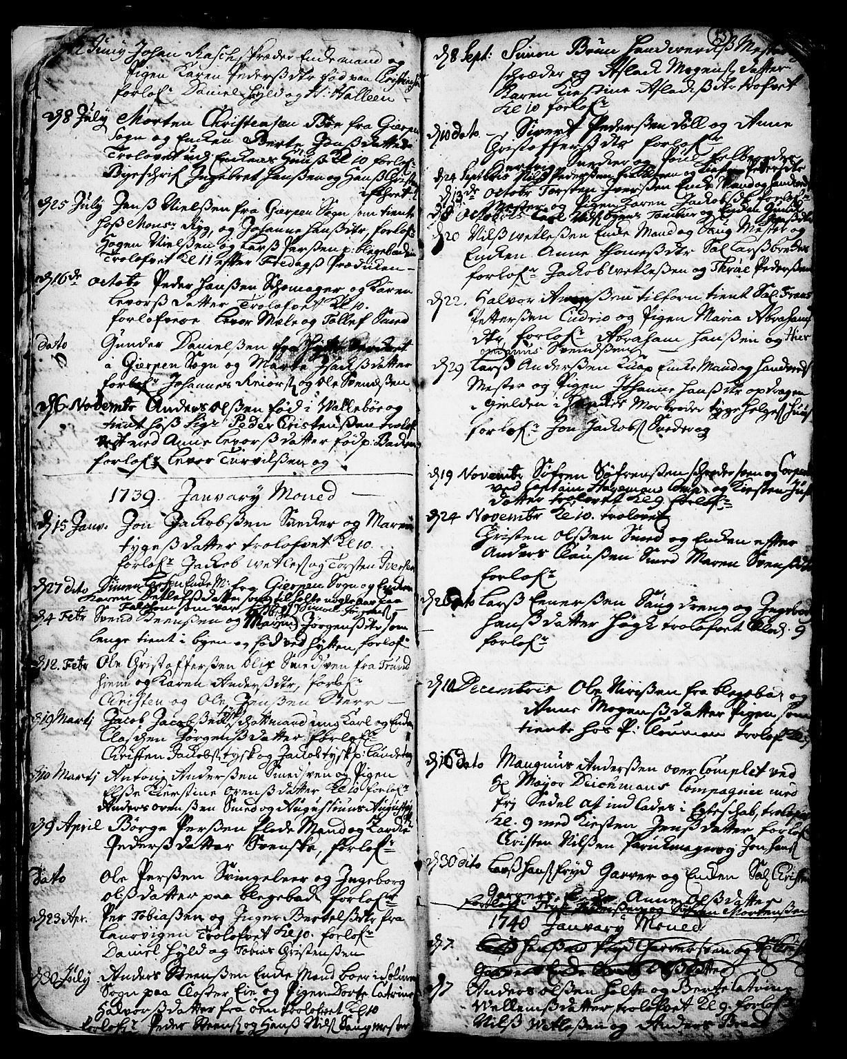 SAKO, Skien kirkebøker, F/Fa/L0002: Ministerialbok nr. 2, 1716-1757, s. 13