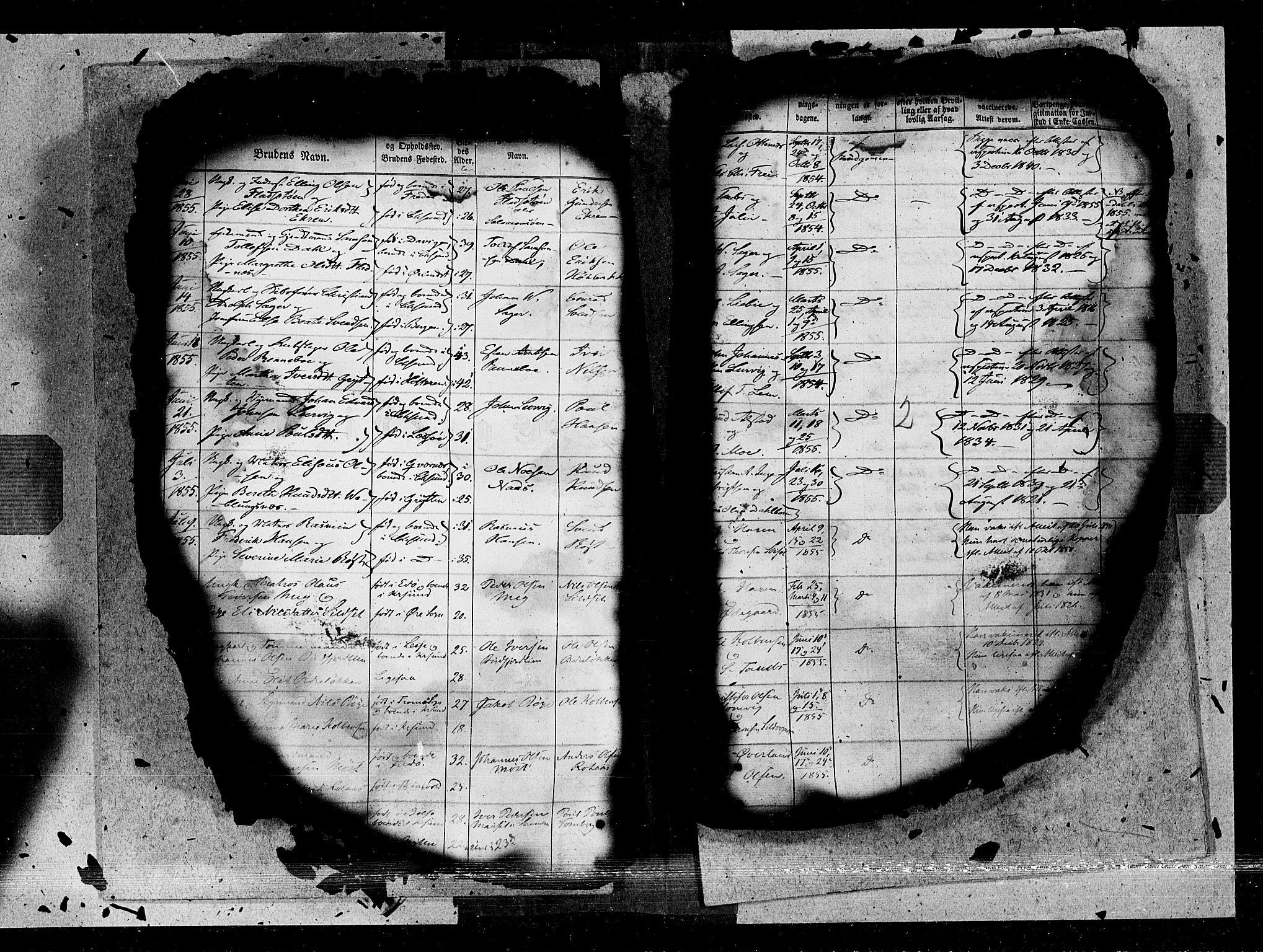 SAT, Ministerialprotokoller, klokkerbøker og fødselsregistre - Møre og Romsdal, 572/L0846: Ministerialbok nr. 572A09, 1855-1865, s. 2
