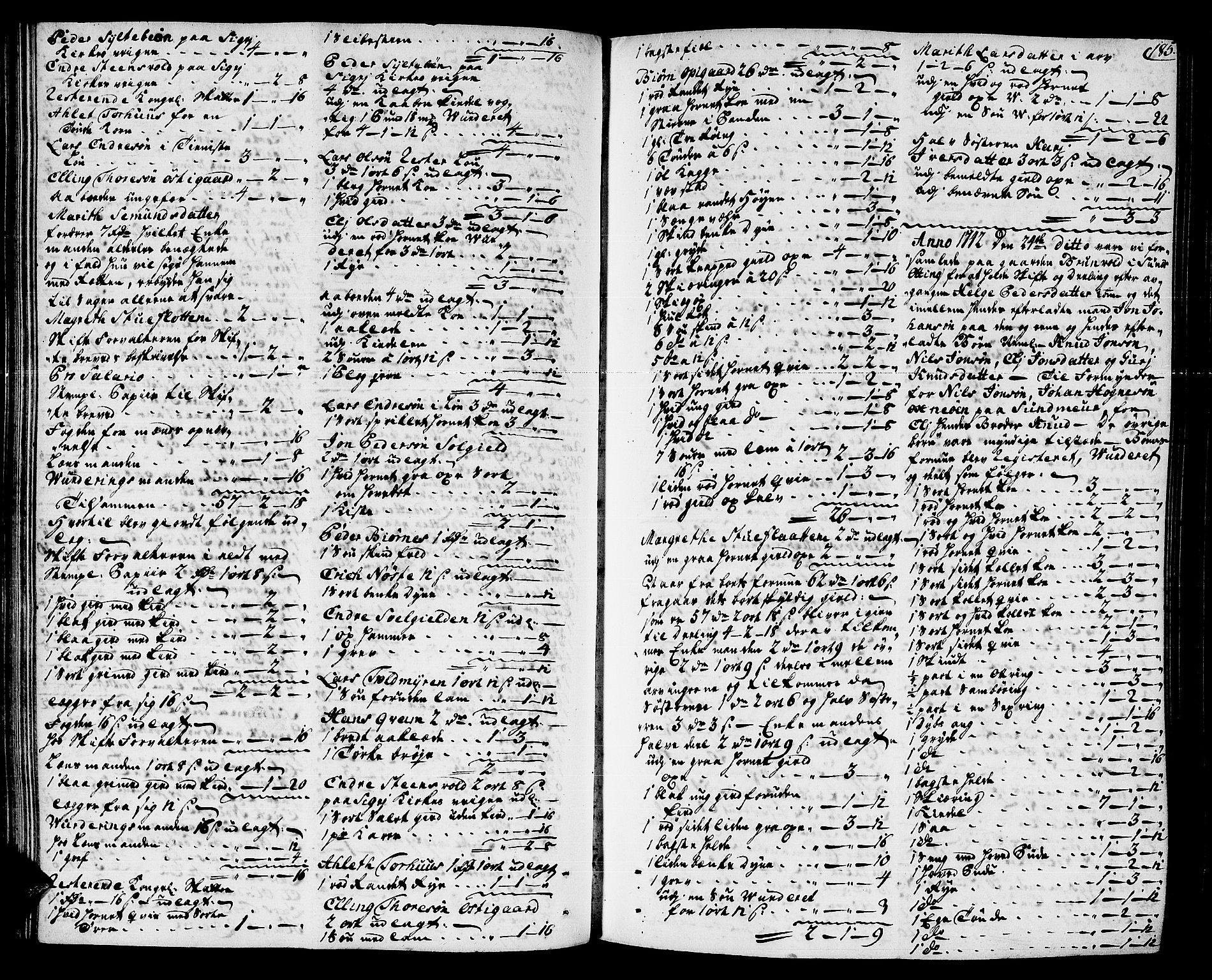 SAT, Romsdal sorenskriveri, 3/3A/L0007: Skifteprotokoll, 1740-1751, s. 184b-185a
