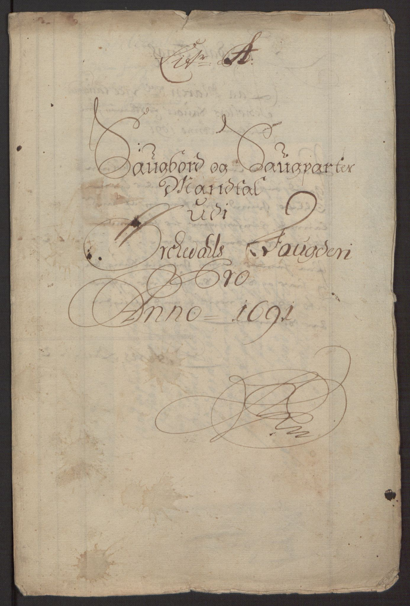 RA, Rentekammeret inntil 1814, Reviderte regnskaper, Fogderegnskap, R58/L3937: Fogderegnskap Orkdal, 1691-1692, s. 24