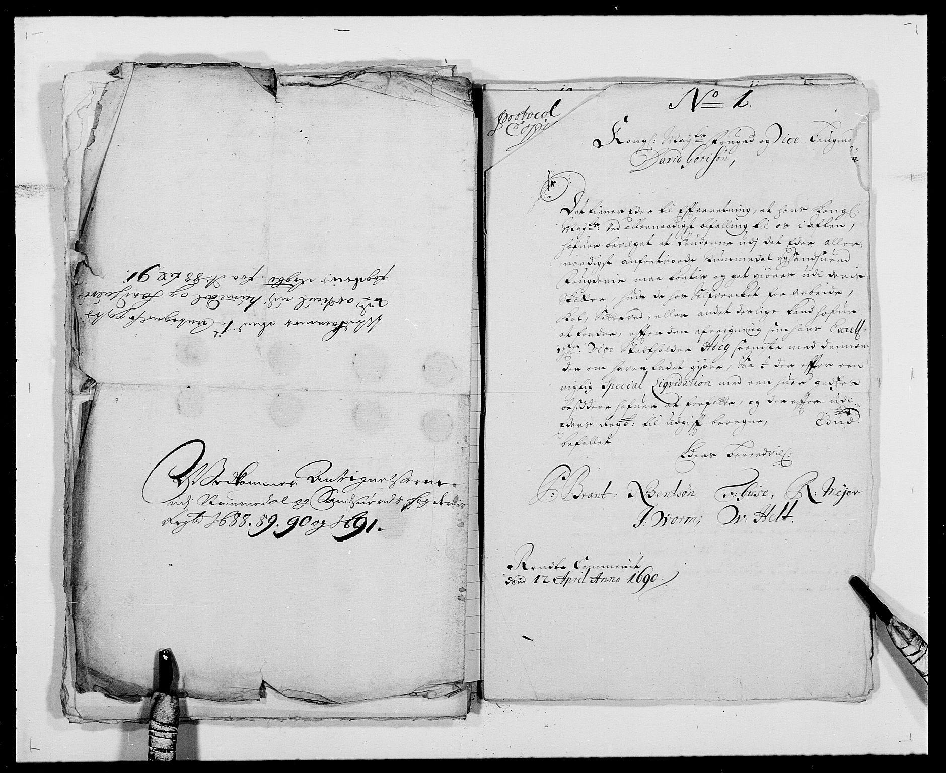 RA, Rentekammeret inntil 1814, Reviderte regnskaper, Fogderegnskap, R24/L1574: Fogderegnskap Numedal og Sandsvær, 1688-1691, s. 259