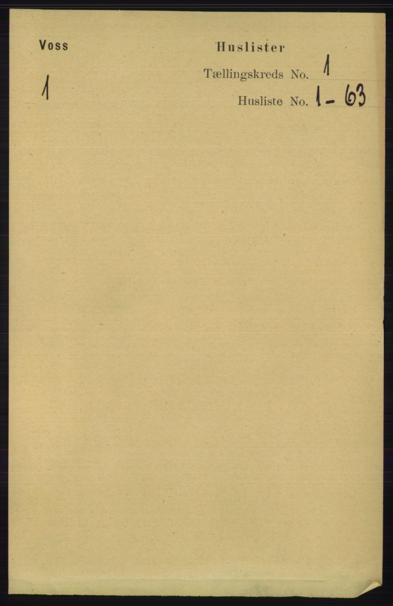 RA, Folketelling 1891 for 1235 Voss herred, 1891, s. 39