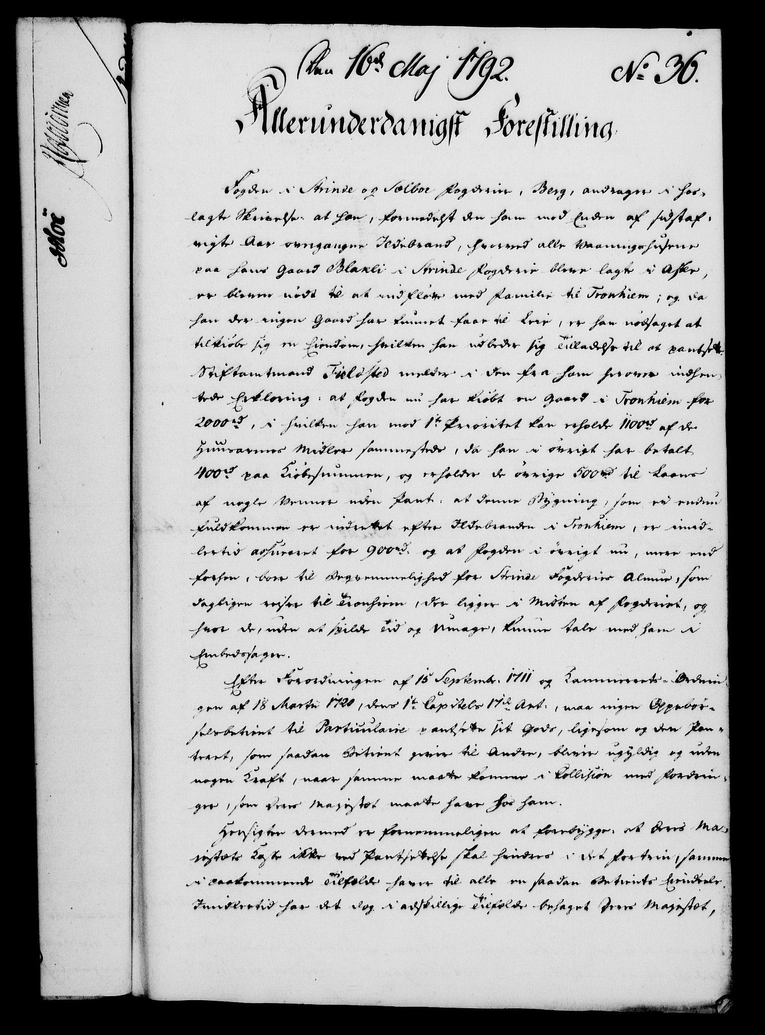 RA, Rentekammeret, Kammerkanselliet, G/Gf/Gfa/L0074: Norsk relasjons- og resolusjonsprotokoll (merket RK 52.74), 1792, s. 232