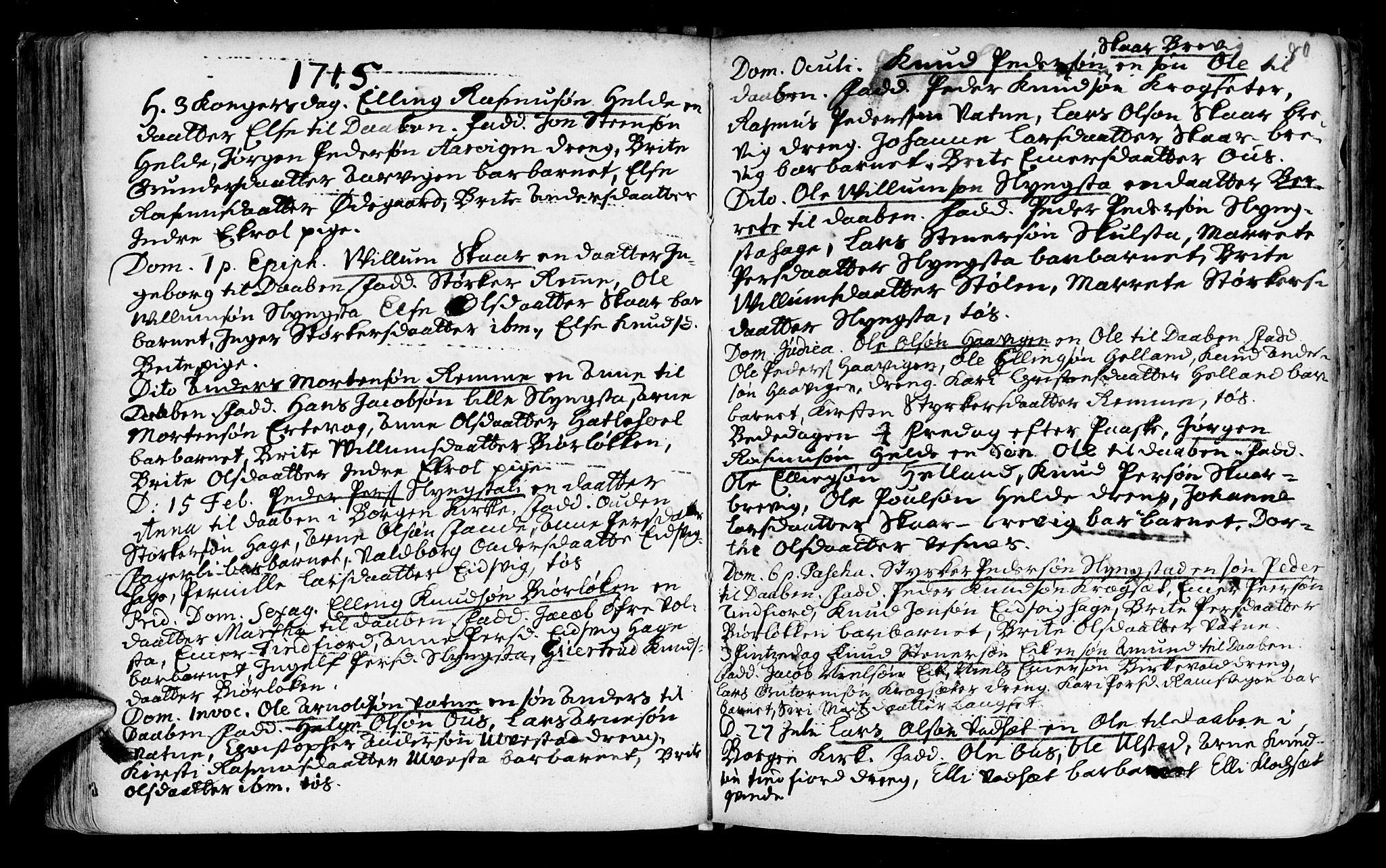 SAT, Ministerialprotokoller, klokkerbøker og fødselsregistre - Møre og Romsdal, 525/L0371: Ministerialbok nr. 525A01, 1699-1777, s. 80
