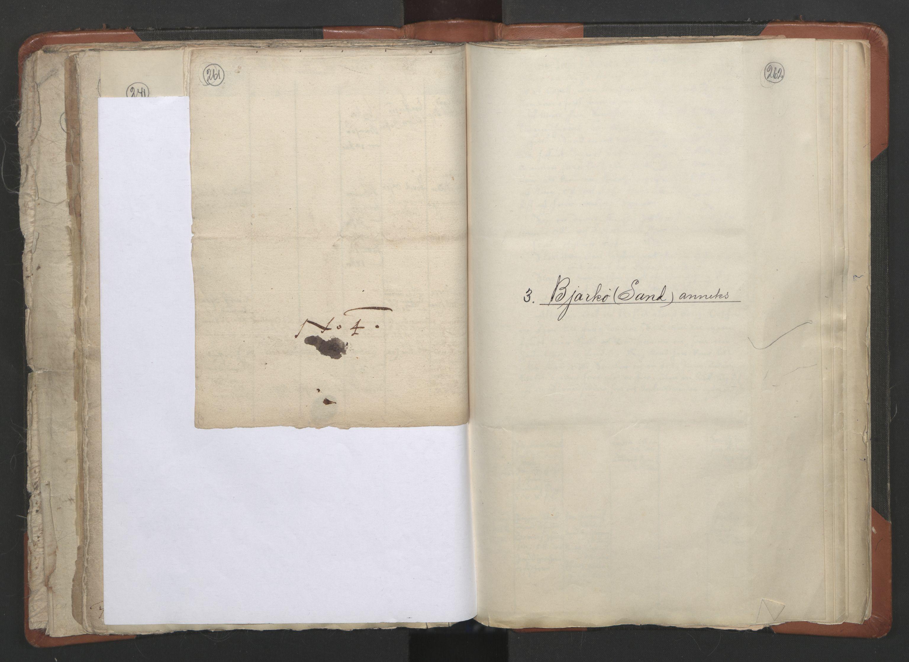 RA, Sogneprestenes manntall 1664-1666, nr. 36: Lofoten og Vesterålen prosti, Senja prosti og Troms prosti, 1664-1666, s. 261-262
