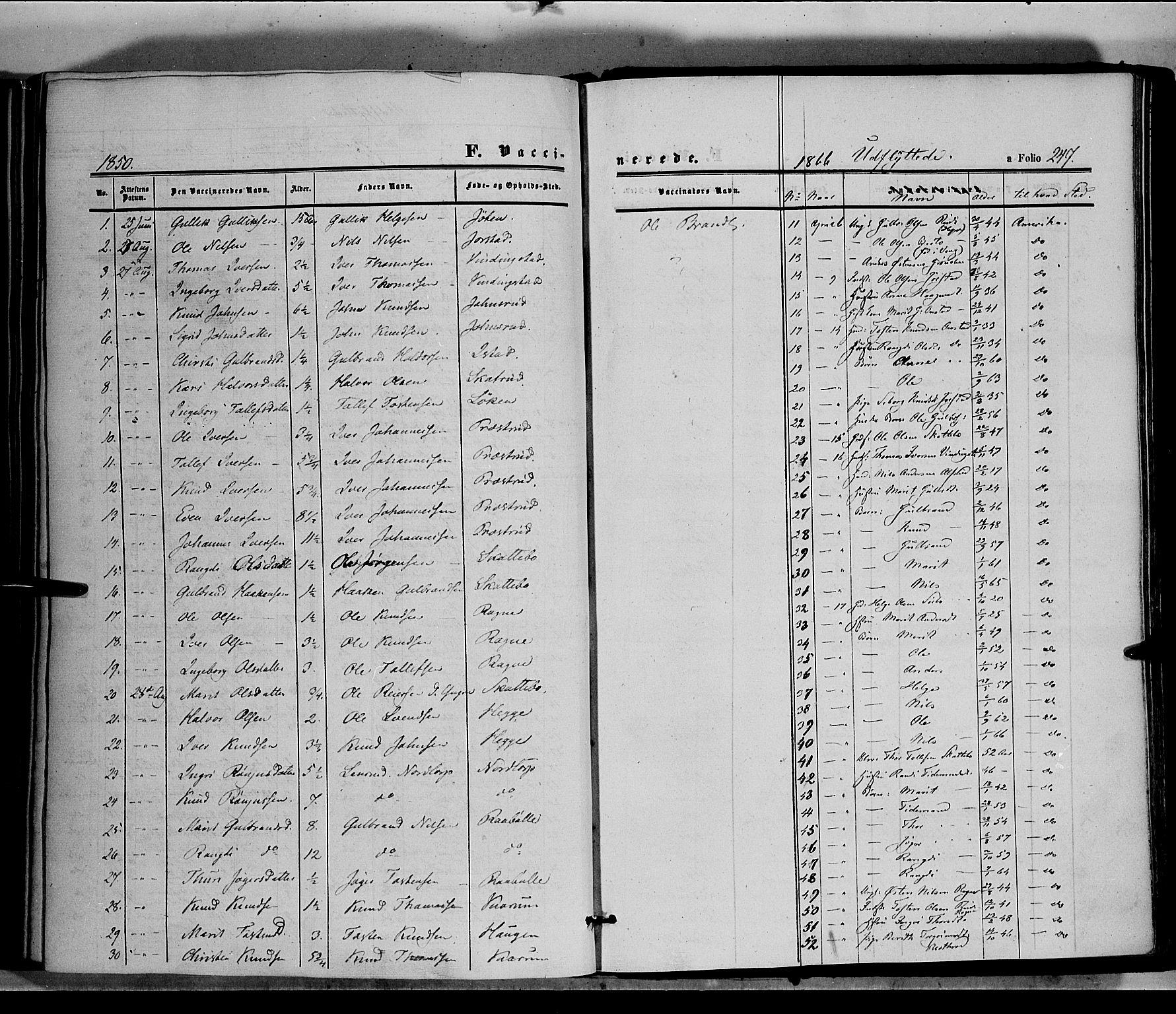 SAH, Øystre Slidre prestekontor, Ministerialbok nr. 1, 1849-1874, s. 247