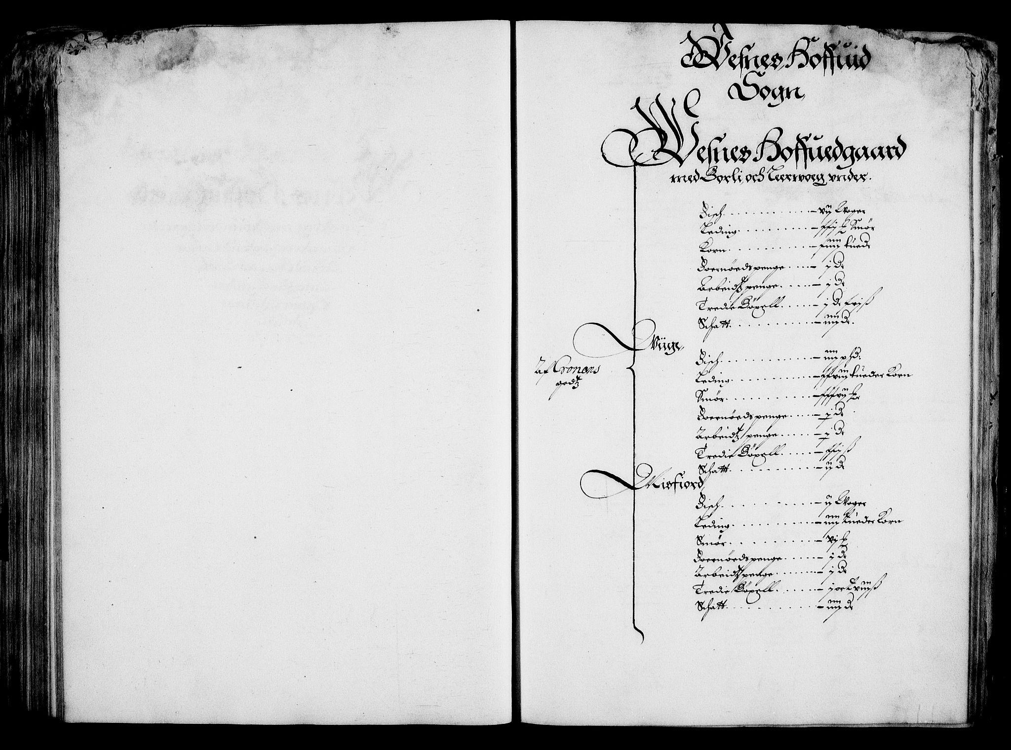 RA, Rentekammeret inntil 1814, Realistisk ordnet avdeling, On/L0001: Statens gods, 1651, s. 202