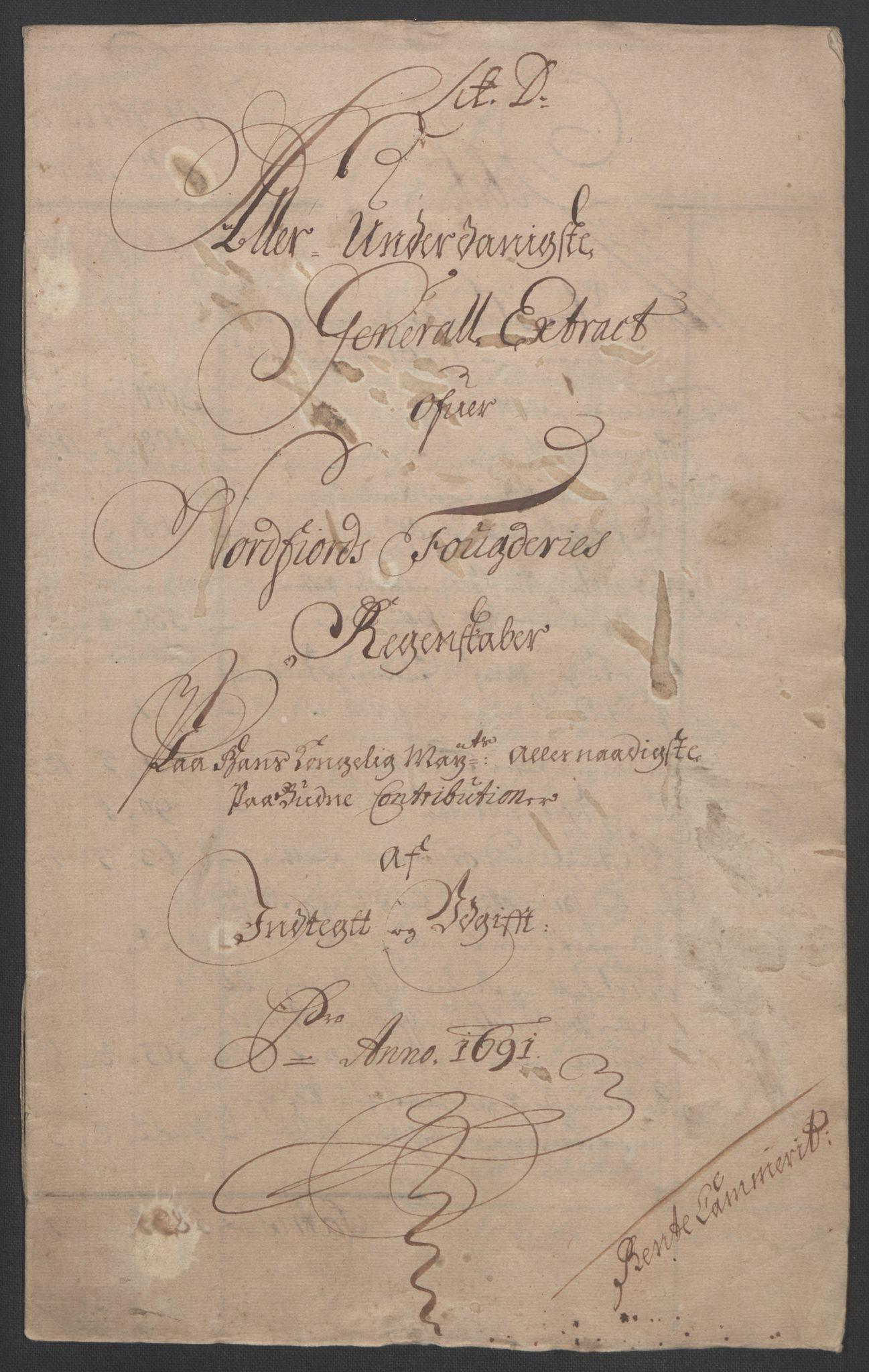 RA, Rentekammeret inntil 1814, Reviderte regnskaper, Fogderegnskap, R53/L3420: Fogderegnskap Sunn- og Nordfjord, 1691-1692, s. 134