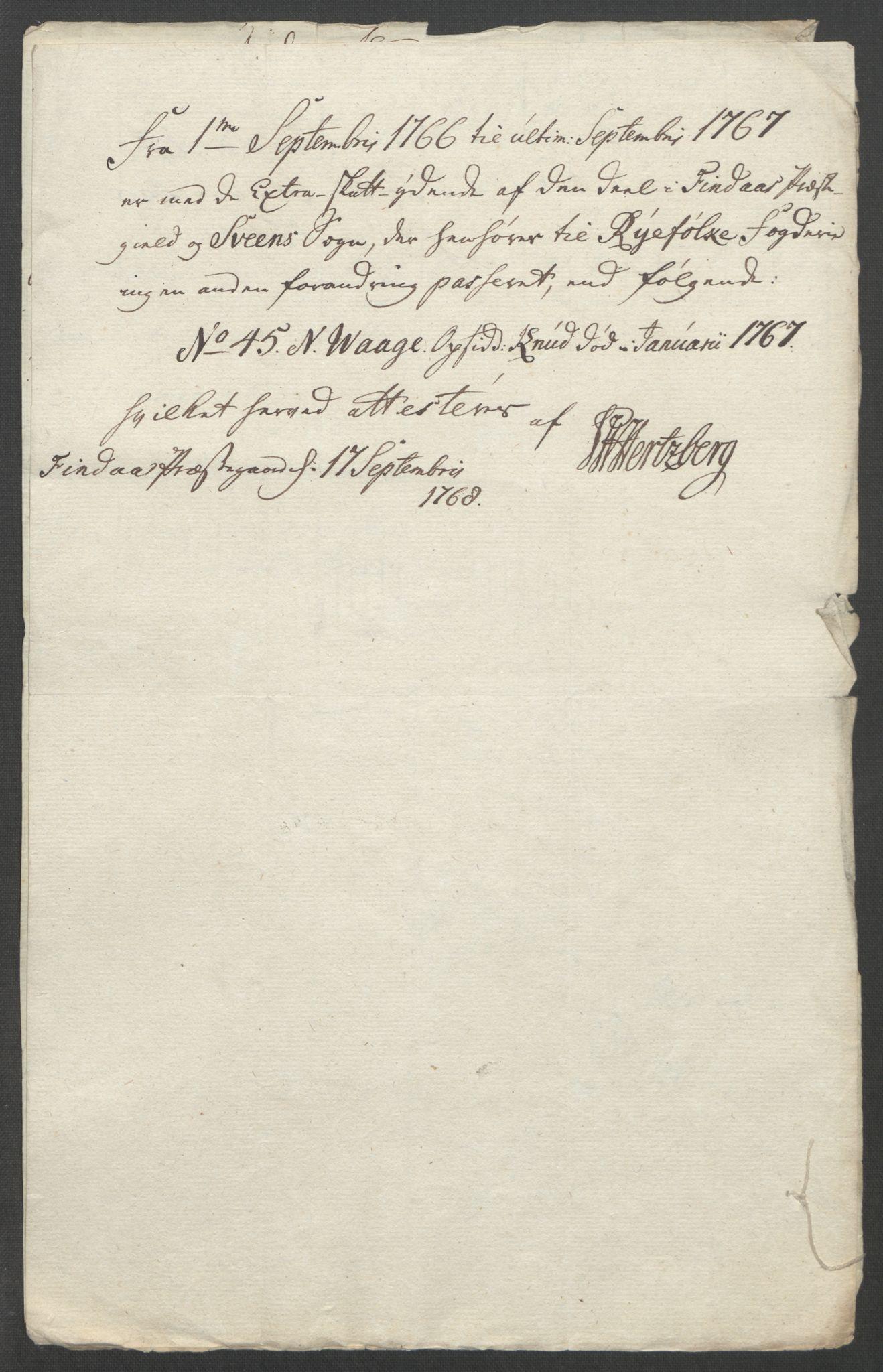 RA, Rentekammeret inntil 1814, Reviderte regnskaper, Fogderegnskap, R47/L2972: Ekstraskatten Ryfylke, 1762-1780, s. 85