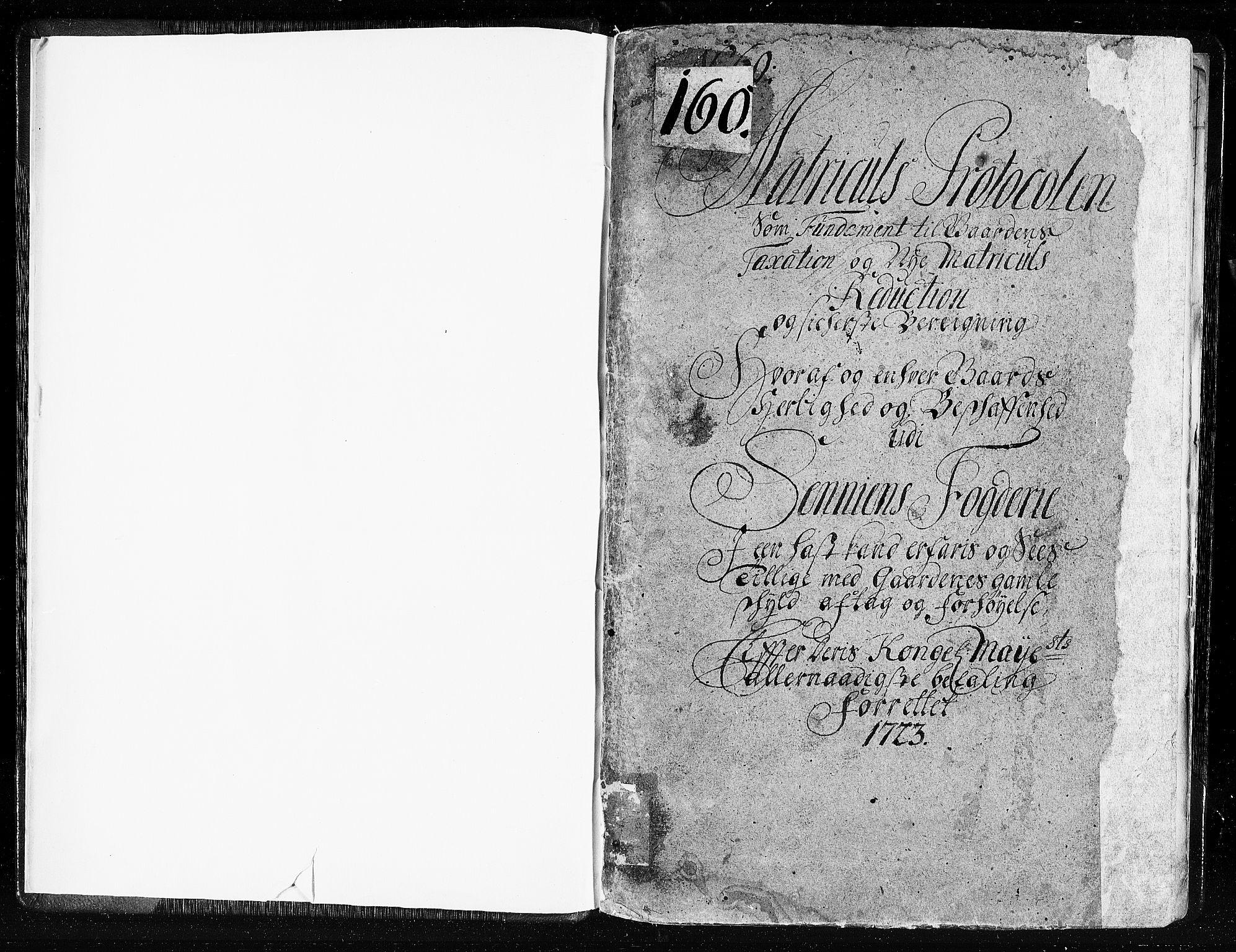 RA, Rentekammeret inntil 1814, Realistisk ordnet avdeling, N/Nb/Nbf/L0178: Senja eksaminasjonsprotokoll, 1723, s. 1a
