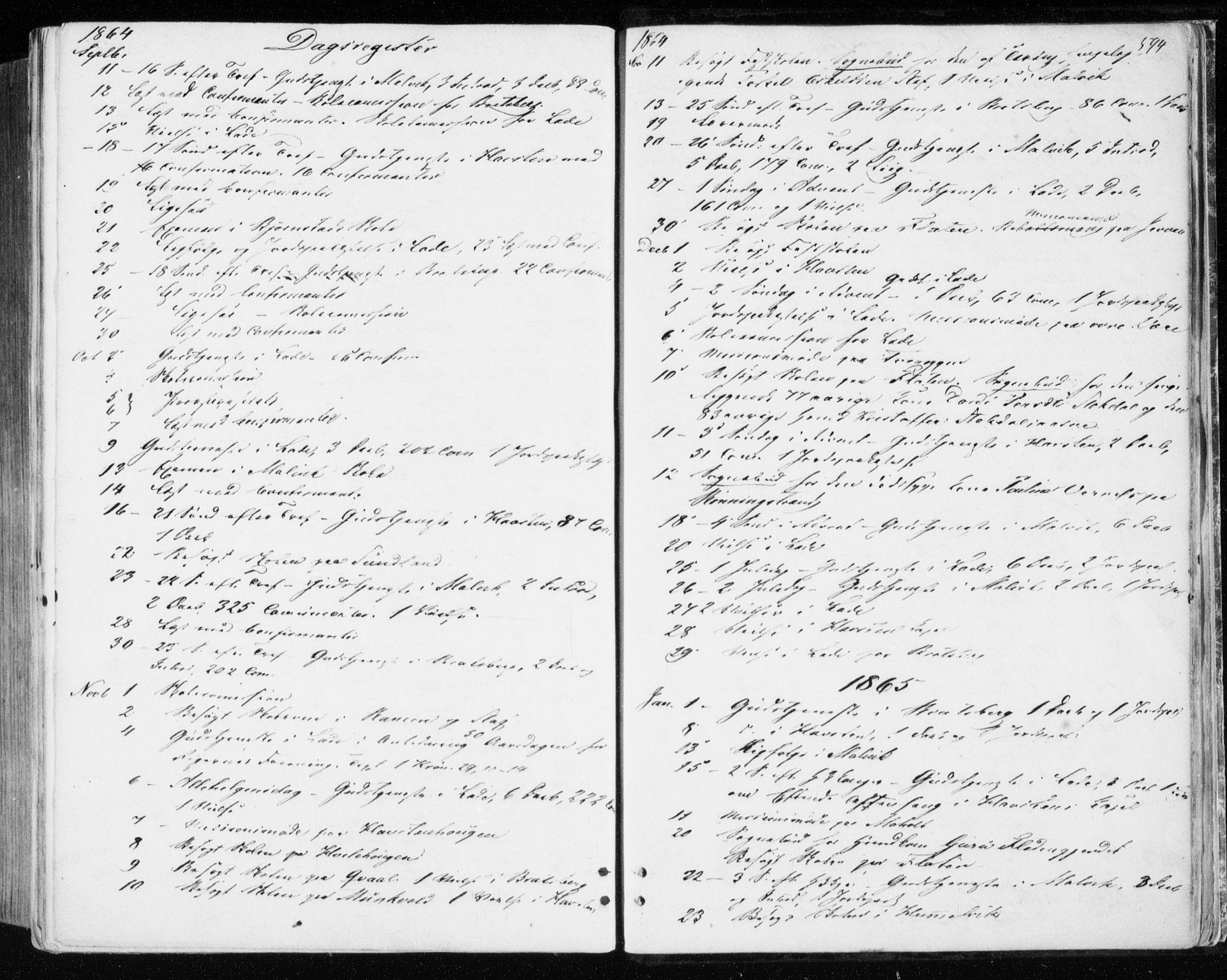 SAT, Ministerialprotokoller, klokkerbøker og fødselsregistre - Sør-Trøndelag, 606/L0292: Ministerialbok nr. 606A07, 1856-1865, s. 594