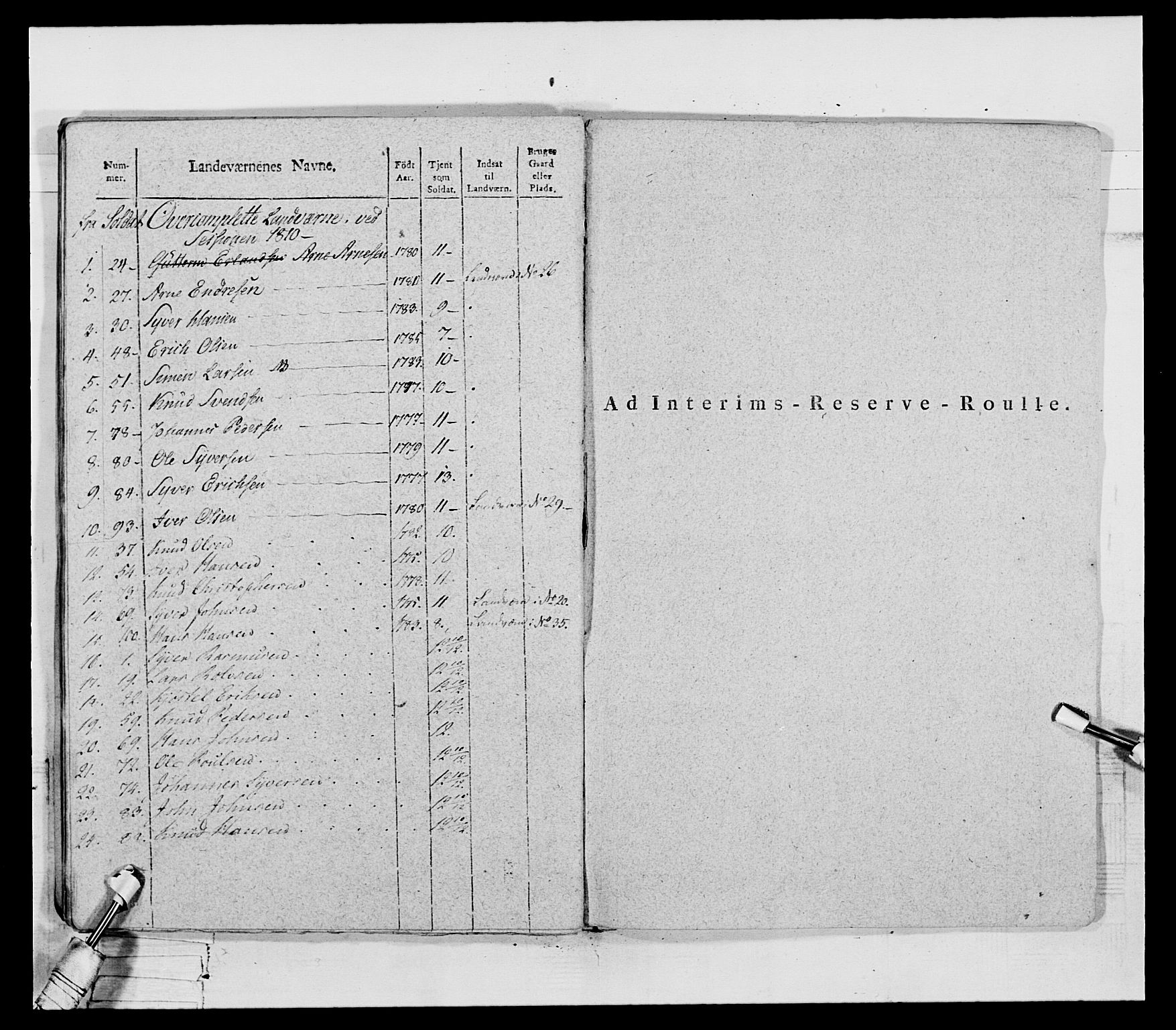 RA, Generalitets- og kommissariatskollegiet, Det kongelige norske kommissariatskollegium, E/Eh/L0069: Opplandske gevorbne infanteriregiment, 1810-1818, s. 353