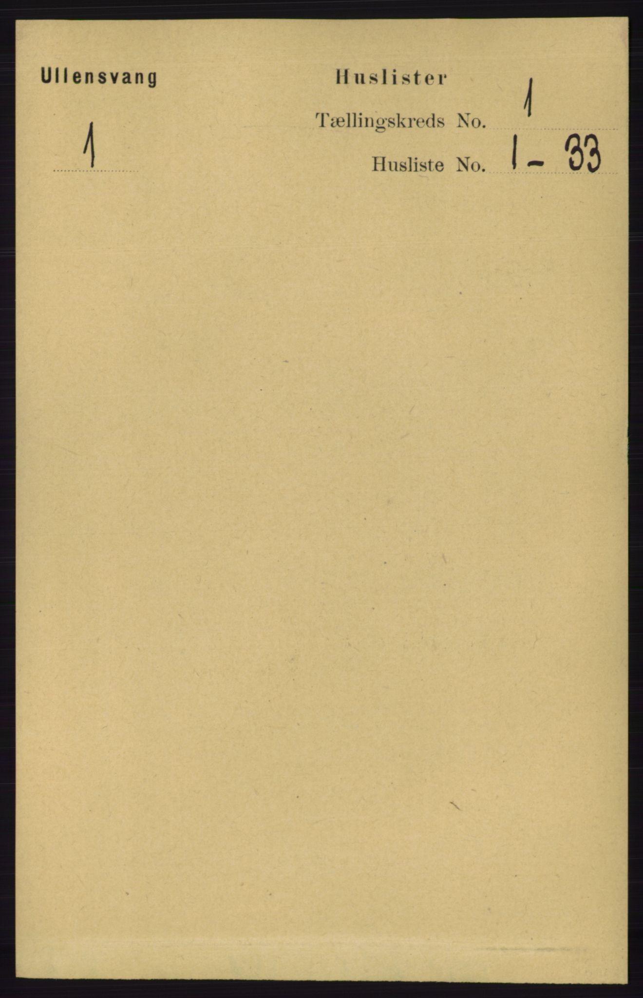 RA, Folketelling 1891 for 1230 Ullensvang herred, 1891, s. 44