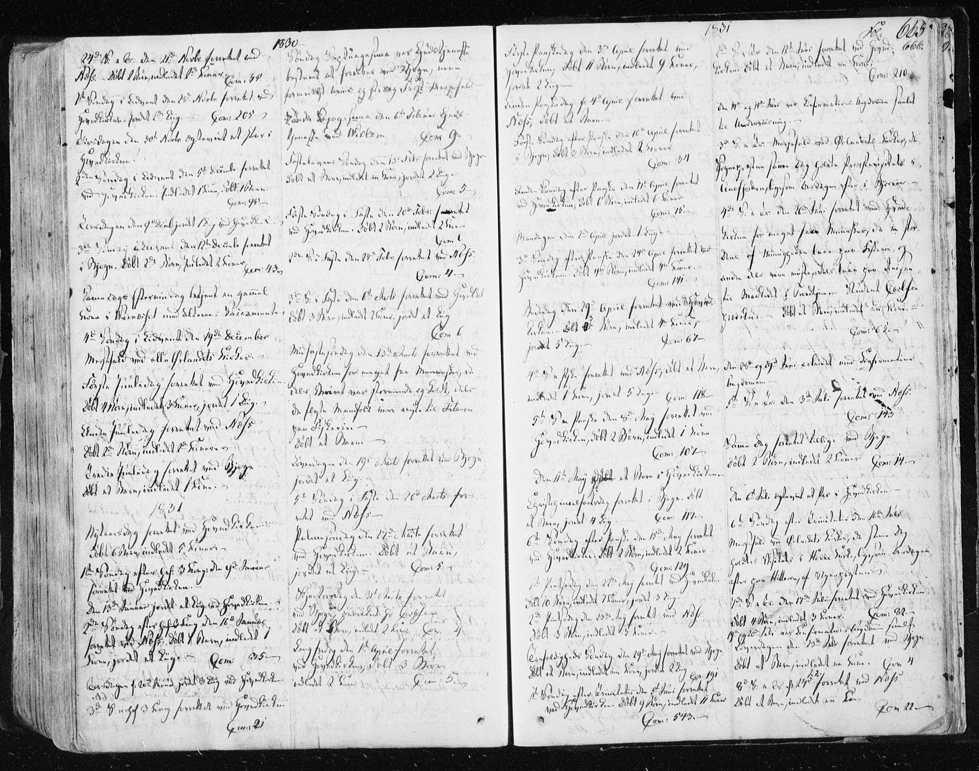 SAT, Ministerialprotokoller, klokkerbøker og fødselsregistre - Sør-Trøndelag, 659/L0735: Ministerialbok nr. 659A05, 1826-1841, s. 665