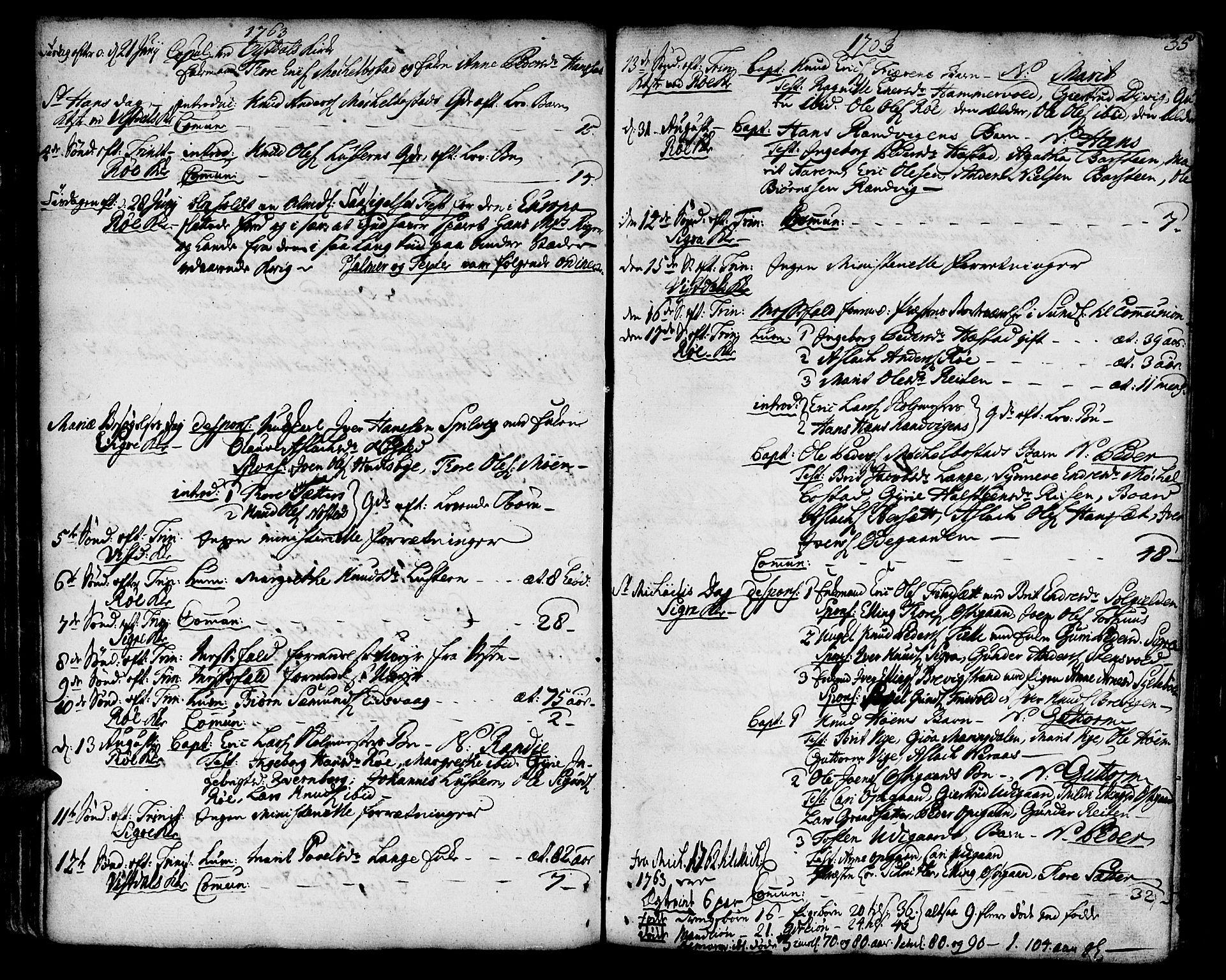 SAT, Ministerialprotokoller, klokkerbøker og fødselsregistre - Møre og Romsdal, 551/L0621: Ministerialbok nr. 551A01, 1757-1803, s. 35