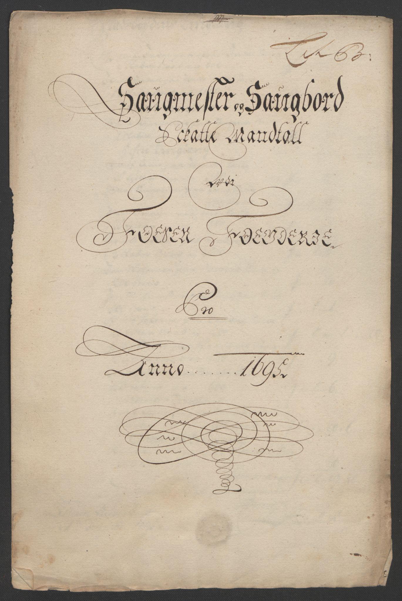 RA, Rentekammeret inntil 1814, Reviderte regnskaper, Fogderegnskap, R57/L3851: Fogderegnskap Fosen, 1695-1696, s. 75