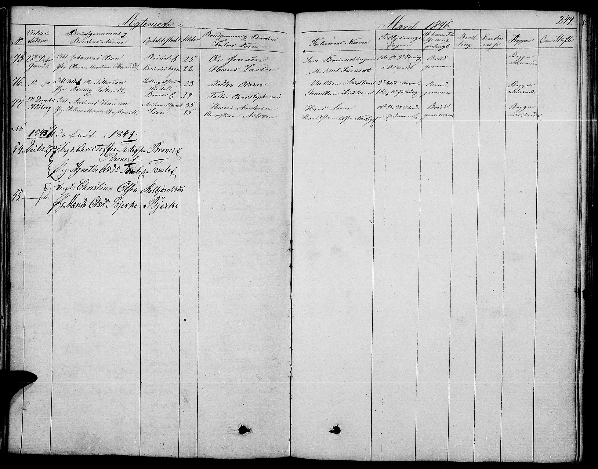 SAH, Land prestekontor, Ministerialbok nr. 8, 1830-1846, s. 249