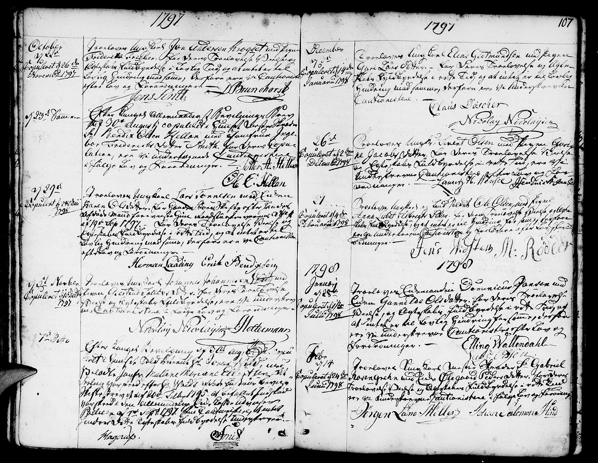 SAB, Nykirken Sokneprestembete, H/Haa: Ministerialbok nr. A 8, 1776-1814, s. 108