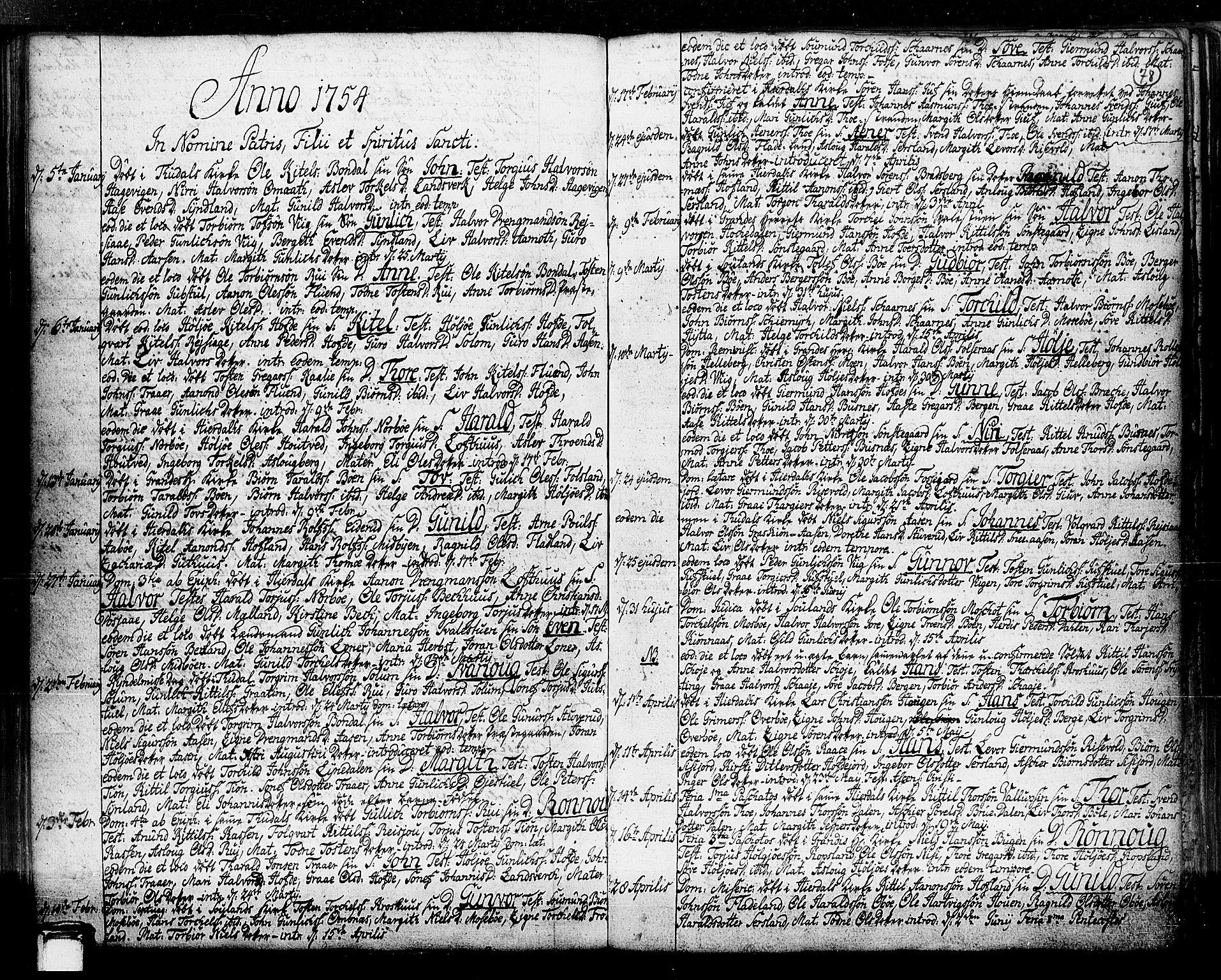 SAKO, Hjartdal kirkebøker, F/Fa/L0003: Ministerialbok nr. I 3, 1727-1775, s. 78