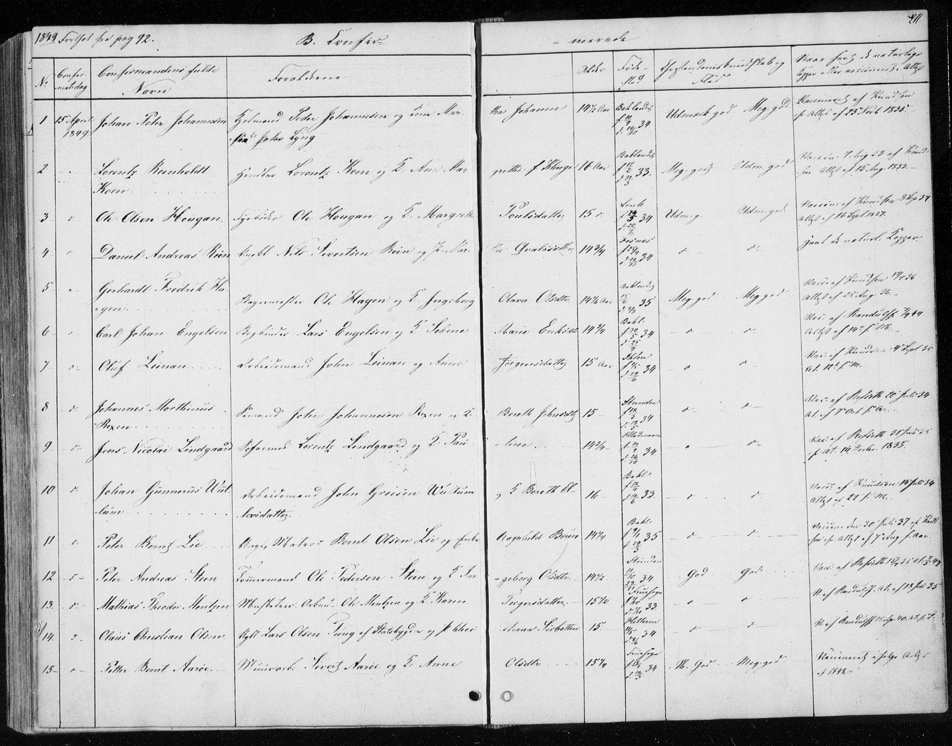 SAT, Ministerialprotokoller, klokkerbøker og fødselsregistre - Sør-Trøndelag, 604/L0183: Ministerialbok nr. 604A04, 1841-1850, s. 211