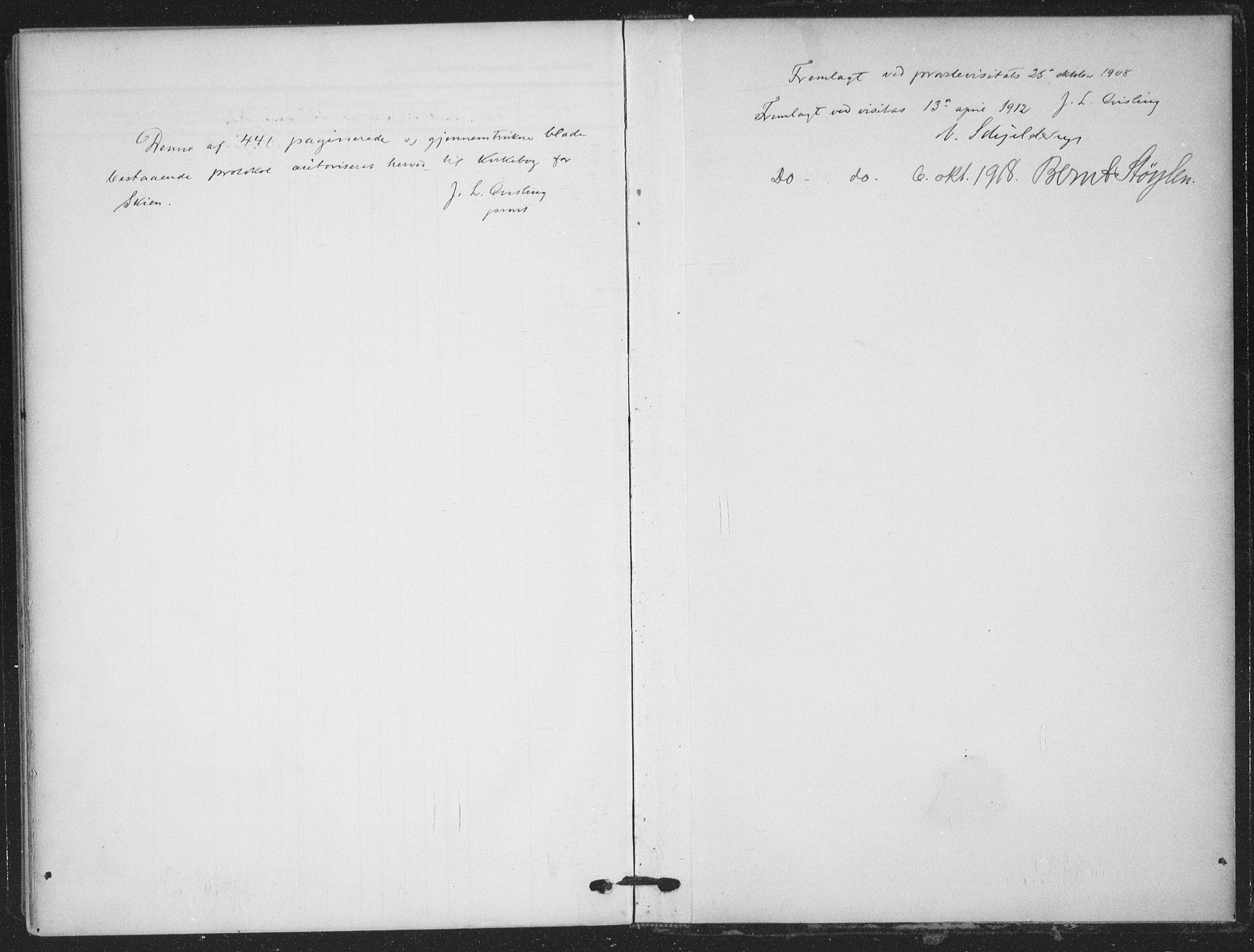 SAKO, Skien kirkebøker, F/Fa/L0012: Ministerialbok nr. 12, 1908-1914
