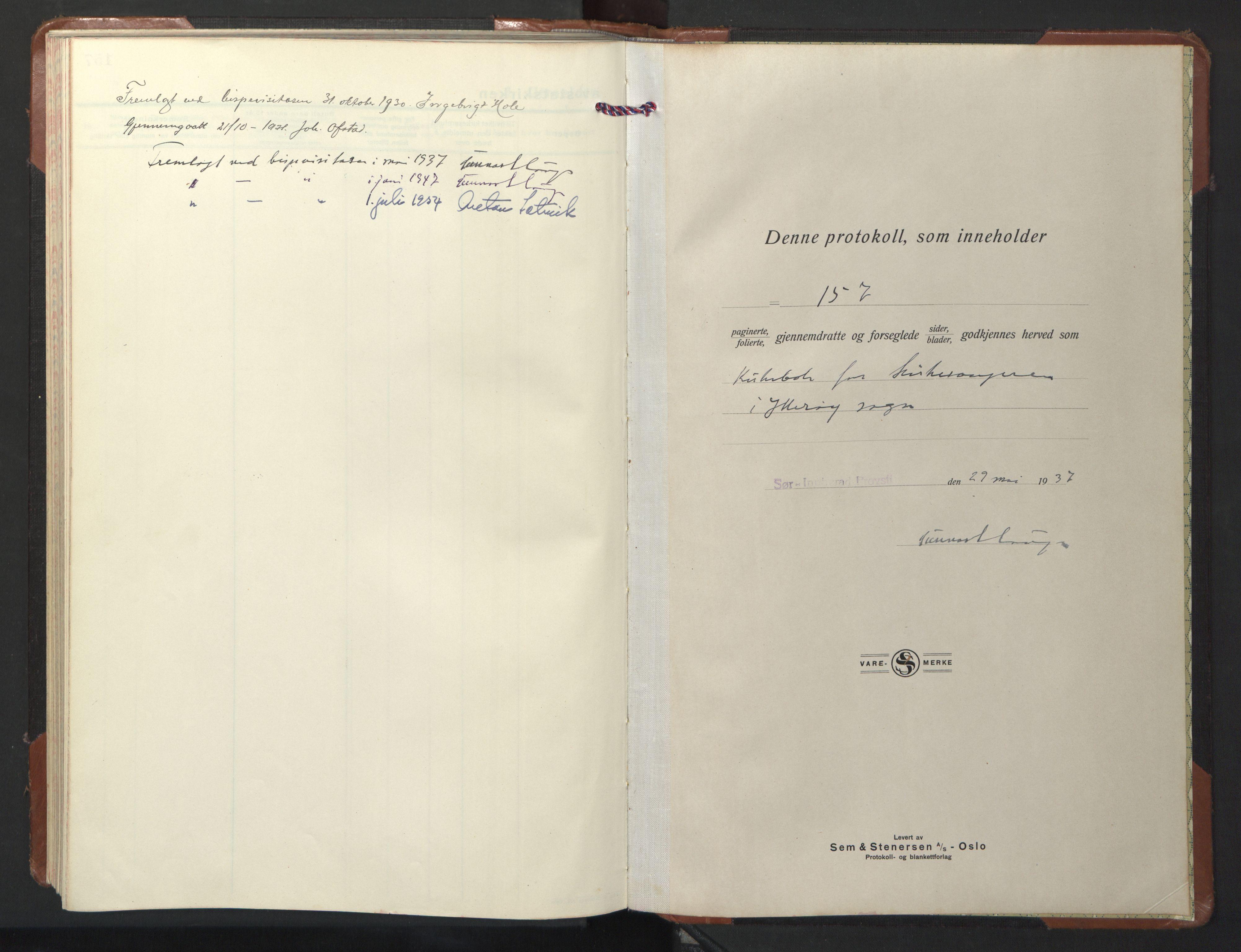 SAT, Ministerialprotokoller, klokkerbøker og fødselsregistre - Nord-Trøndelag, 722/L0227: Klokkerbok nr. 722C03, 1928-1958