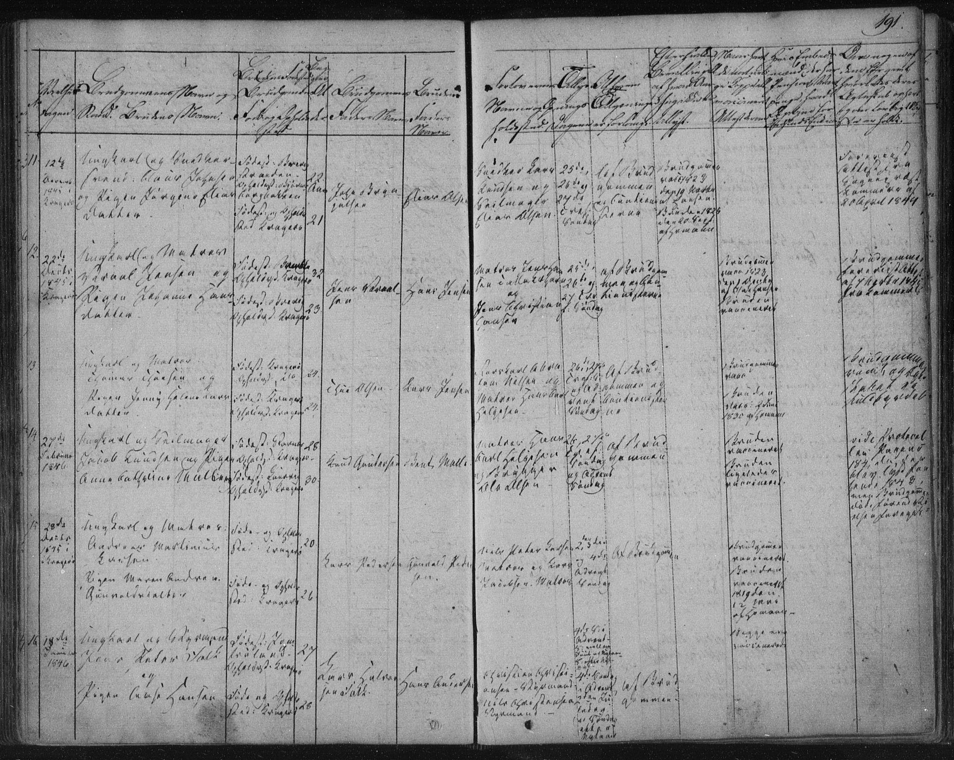SAKO, Kragerø kirkebøker, F/Fa/L0005: Ministerialbok nr. 5, 1832-1847, s. 191