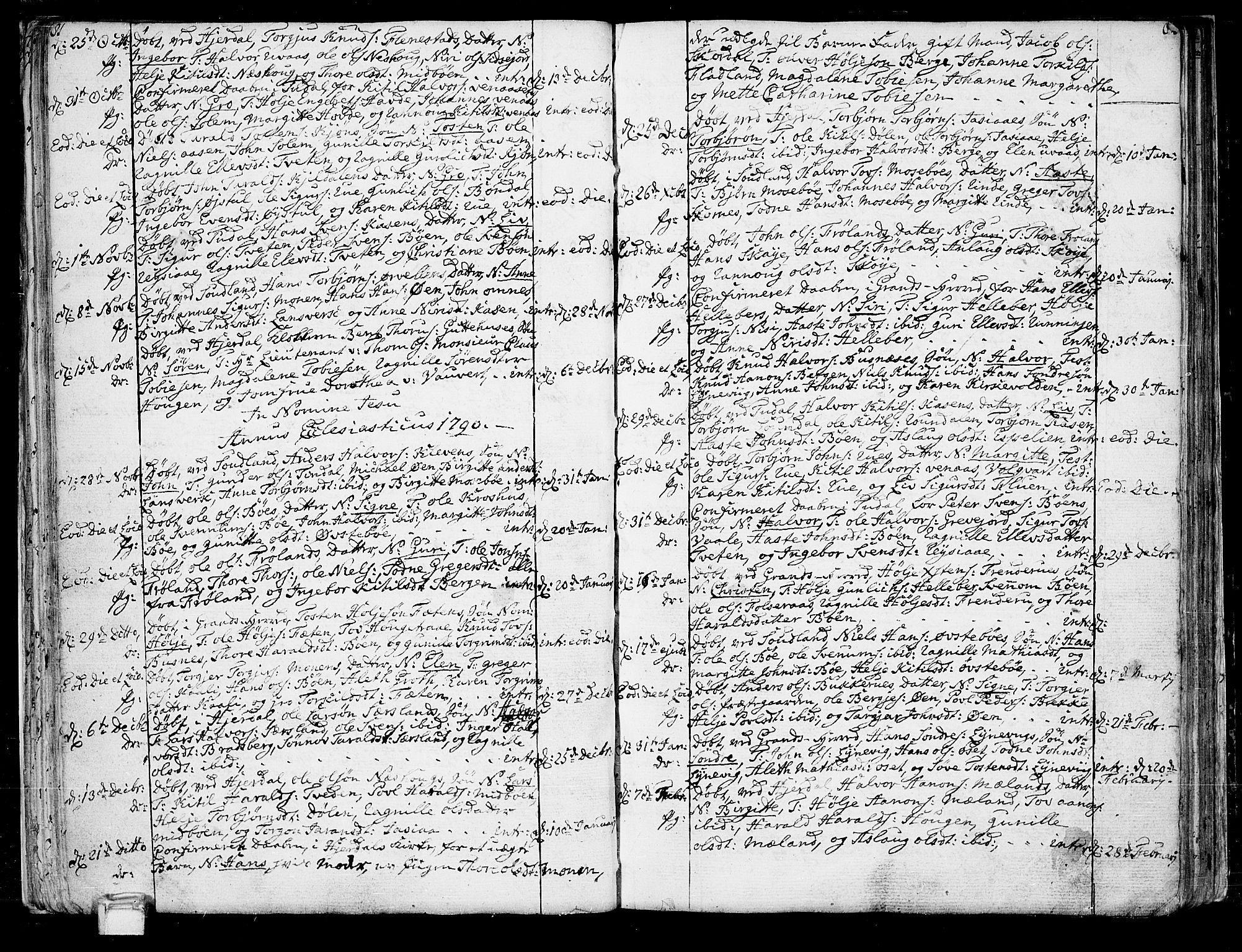 SAKO, Hjartdal kirkebøker, F/Fa/L0005: Ministerialbok nr. I 5, 1776-1801, s. 81-82